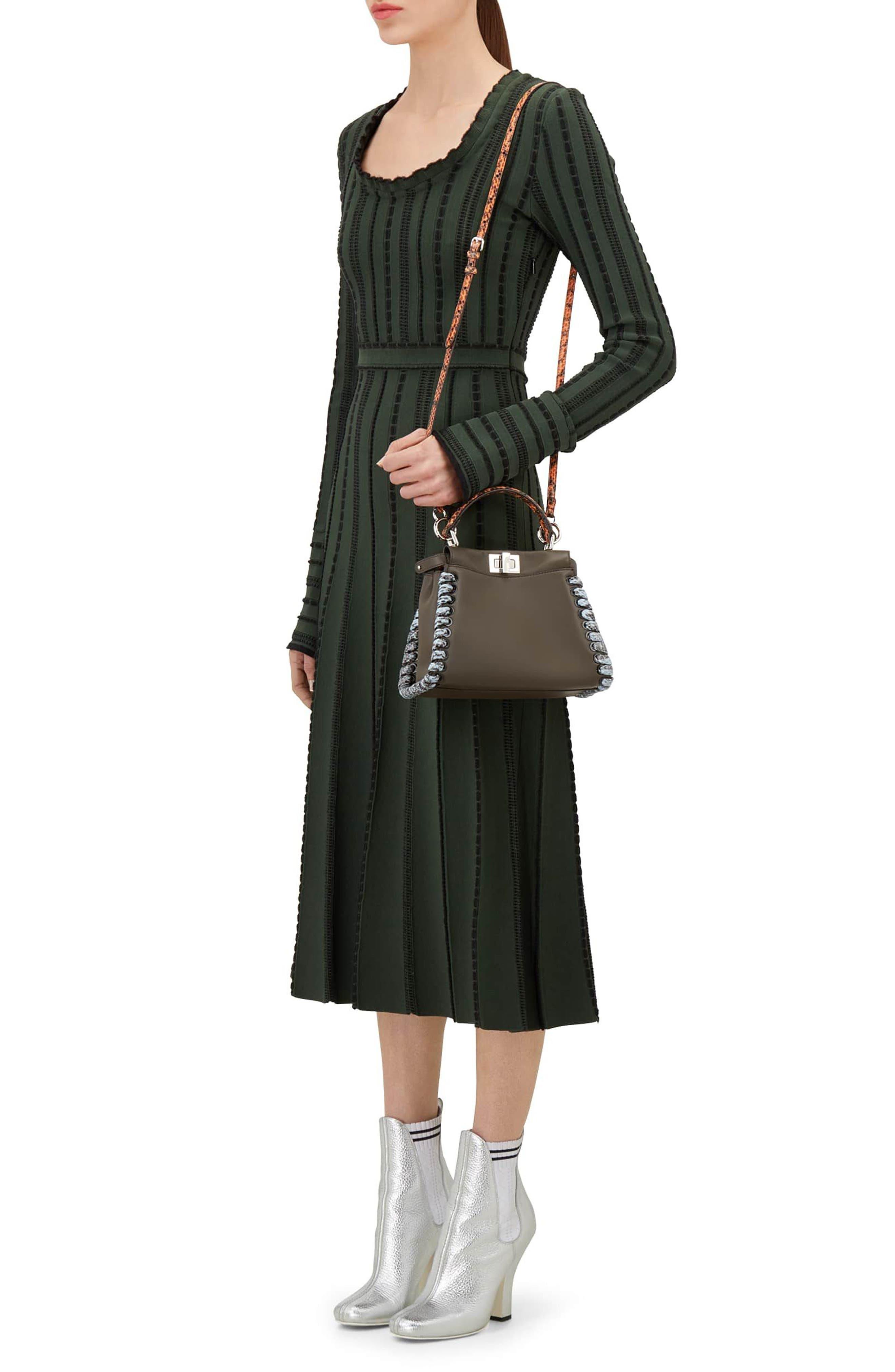 Alternate Image 2  - Fendi Mini Peekaboo Leather & Genuine Snakeskin Satchel
