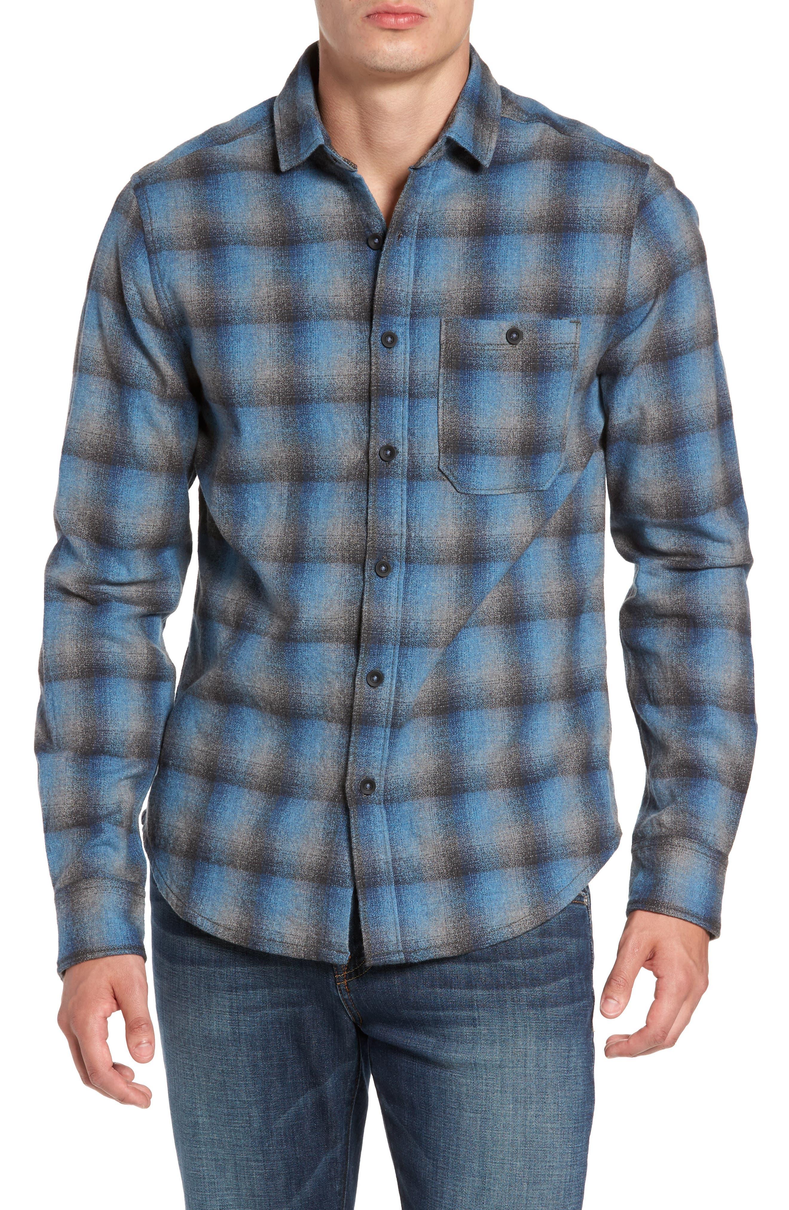 Delta Regular Fit Brushed Crepe Sport Shirt,                         Main,                         color, Captain Heather