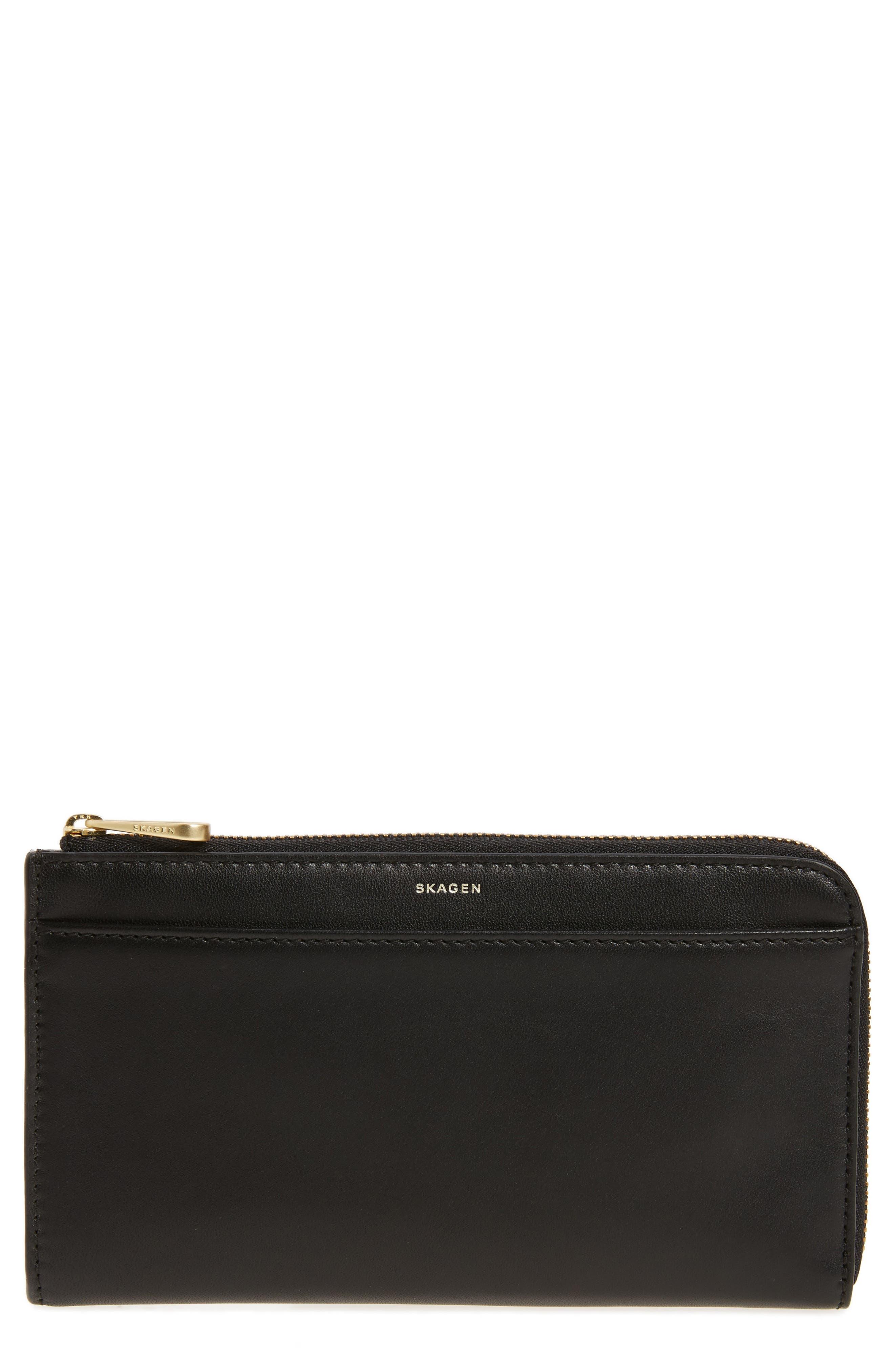 Skagen Leather Phone Wallet