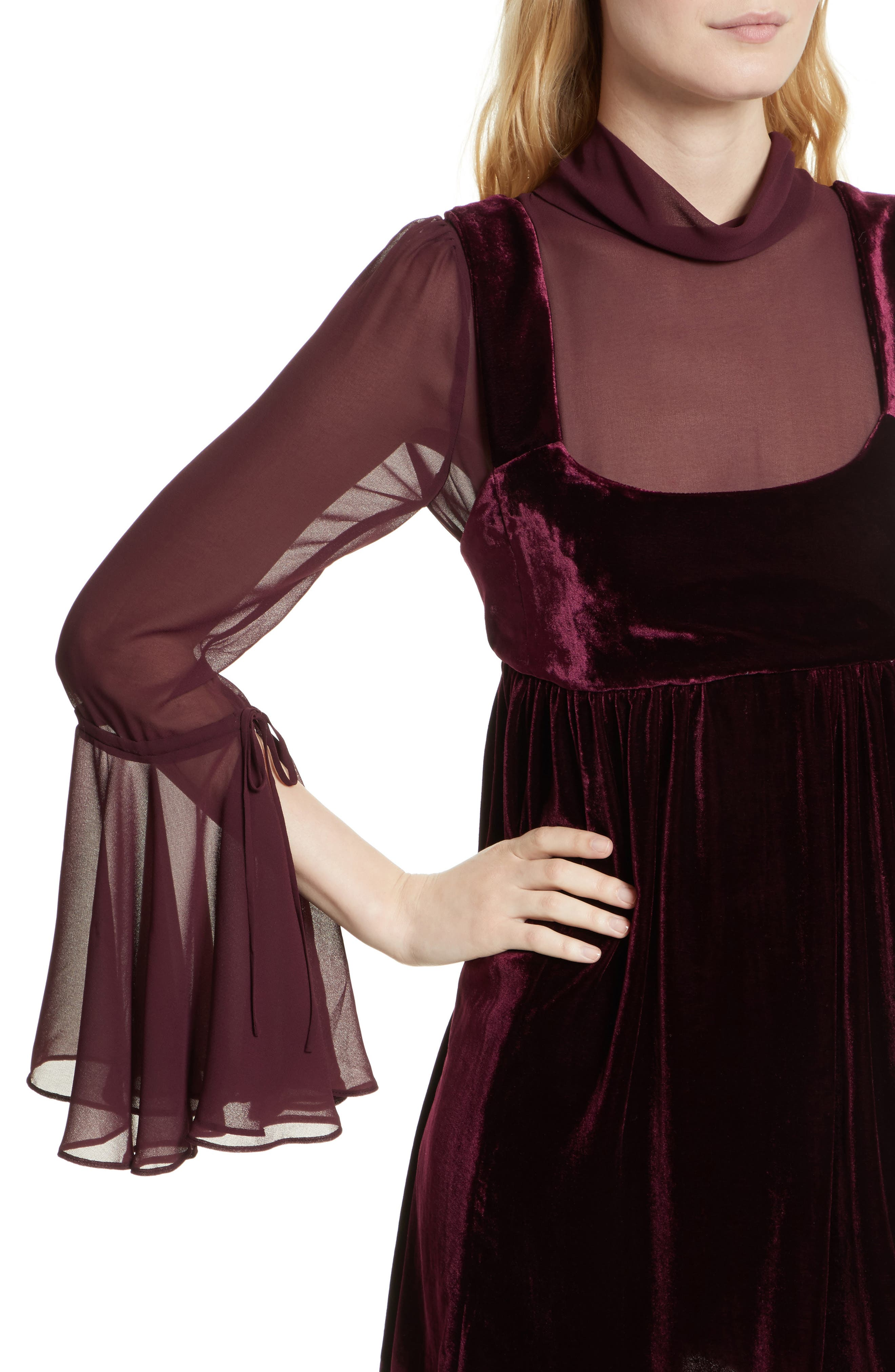 Counting Stars Minidress,                             Alternate thumbnail 4, color,                             Wine