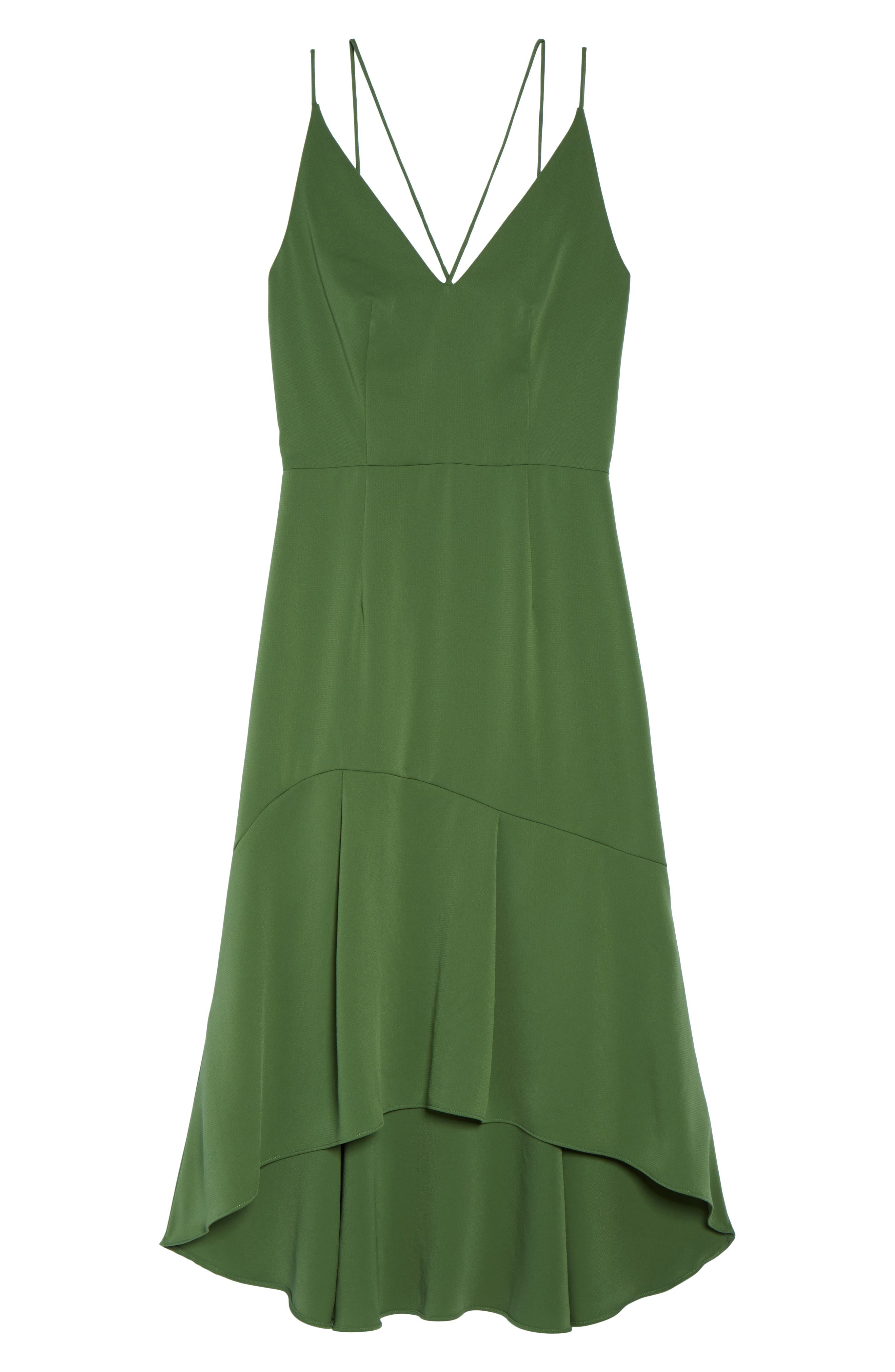 Lovine Midi Dress,                             Alternate thumbnail 6, color,                             Moss Green