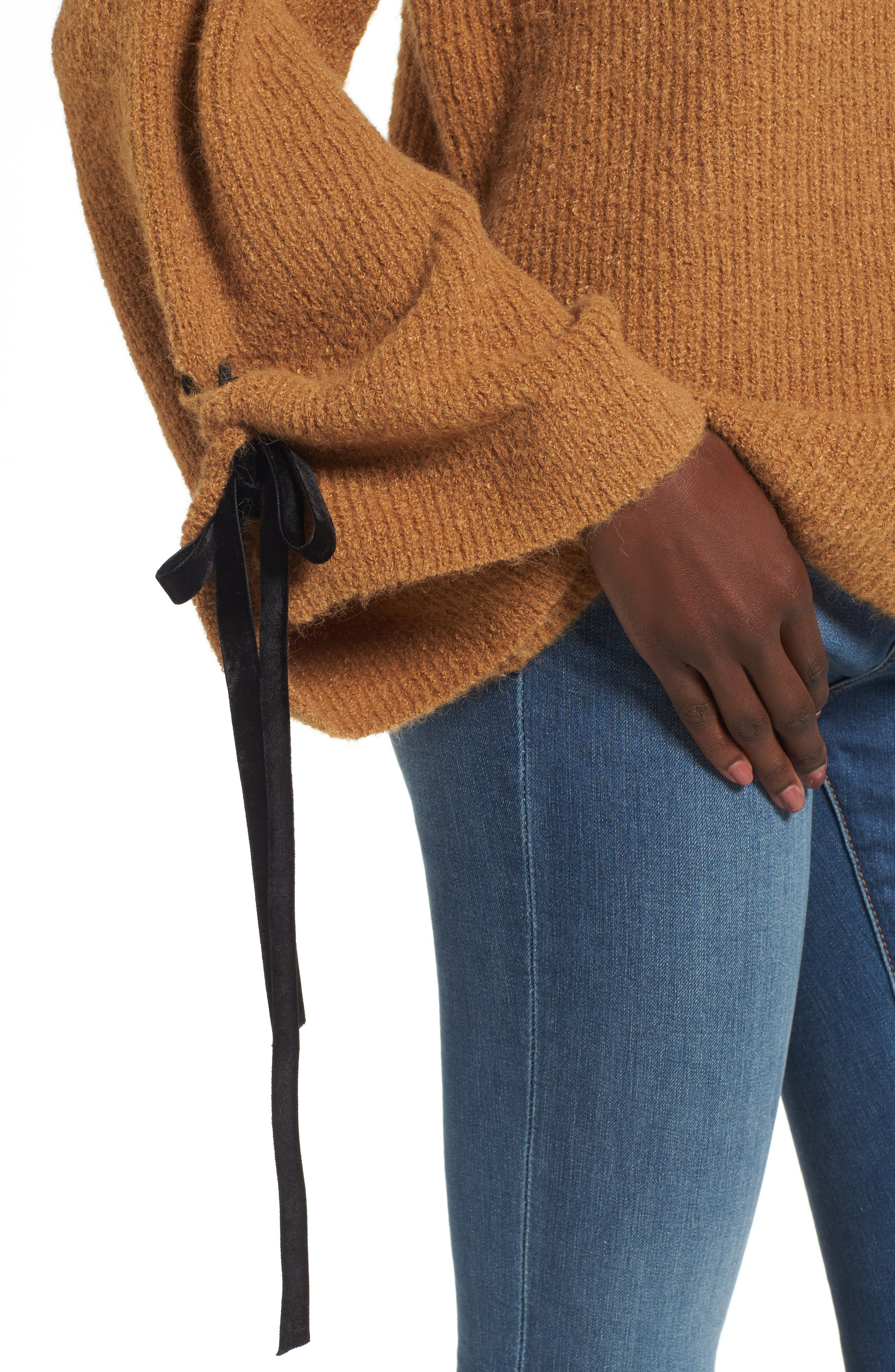 Alternate Image 4  - BP. Lace-Up Sleeve Sweater