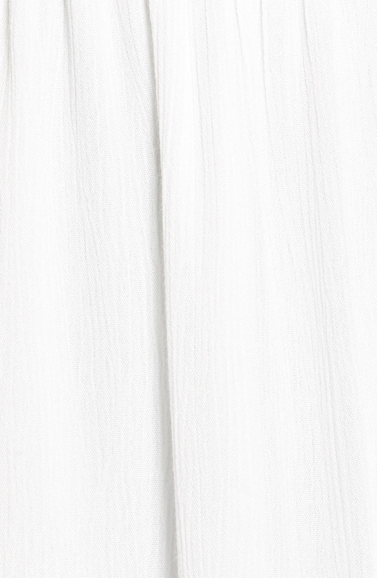 Kizzie Strapless Midi Dress,                             Alternate thumbnail 5, color,                             Ivory