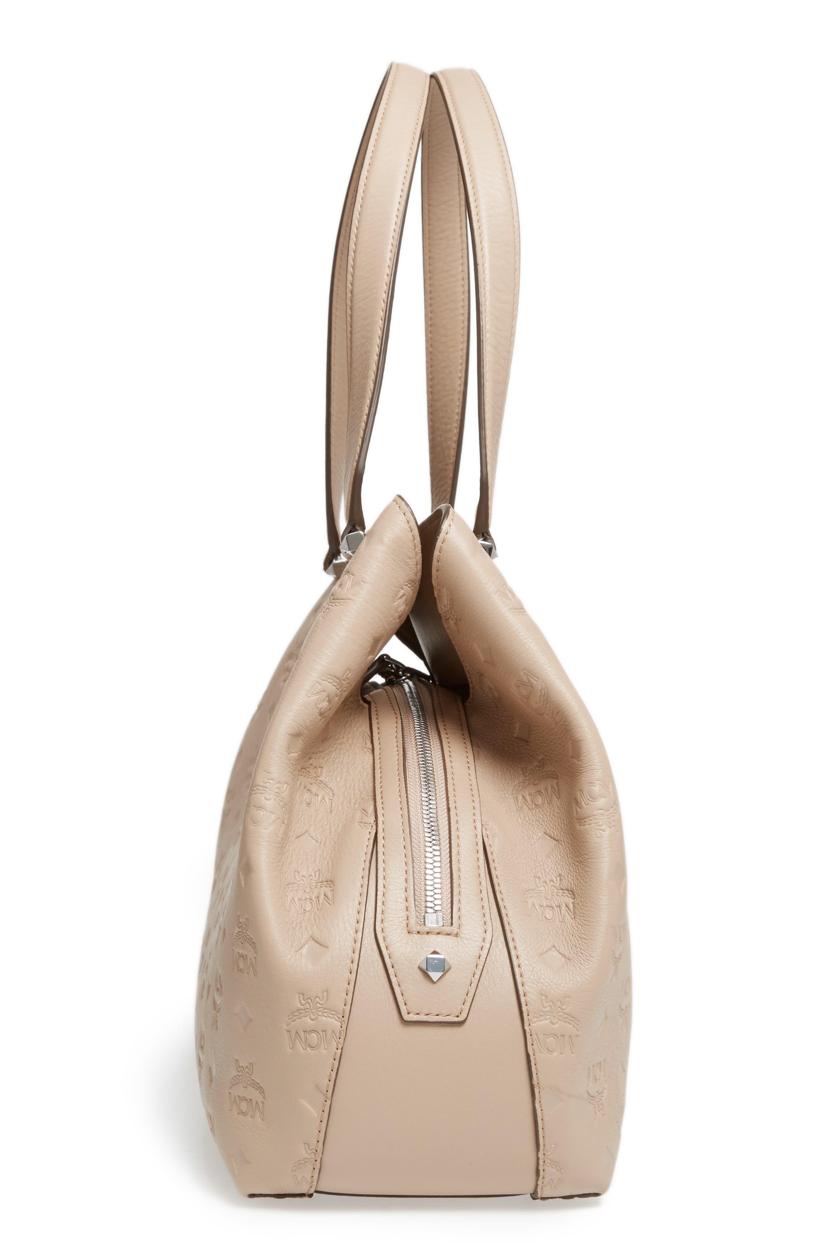 Alternate Image 5  - MCM Signature Monogrammed Leather Handbag