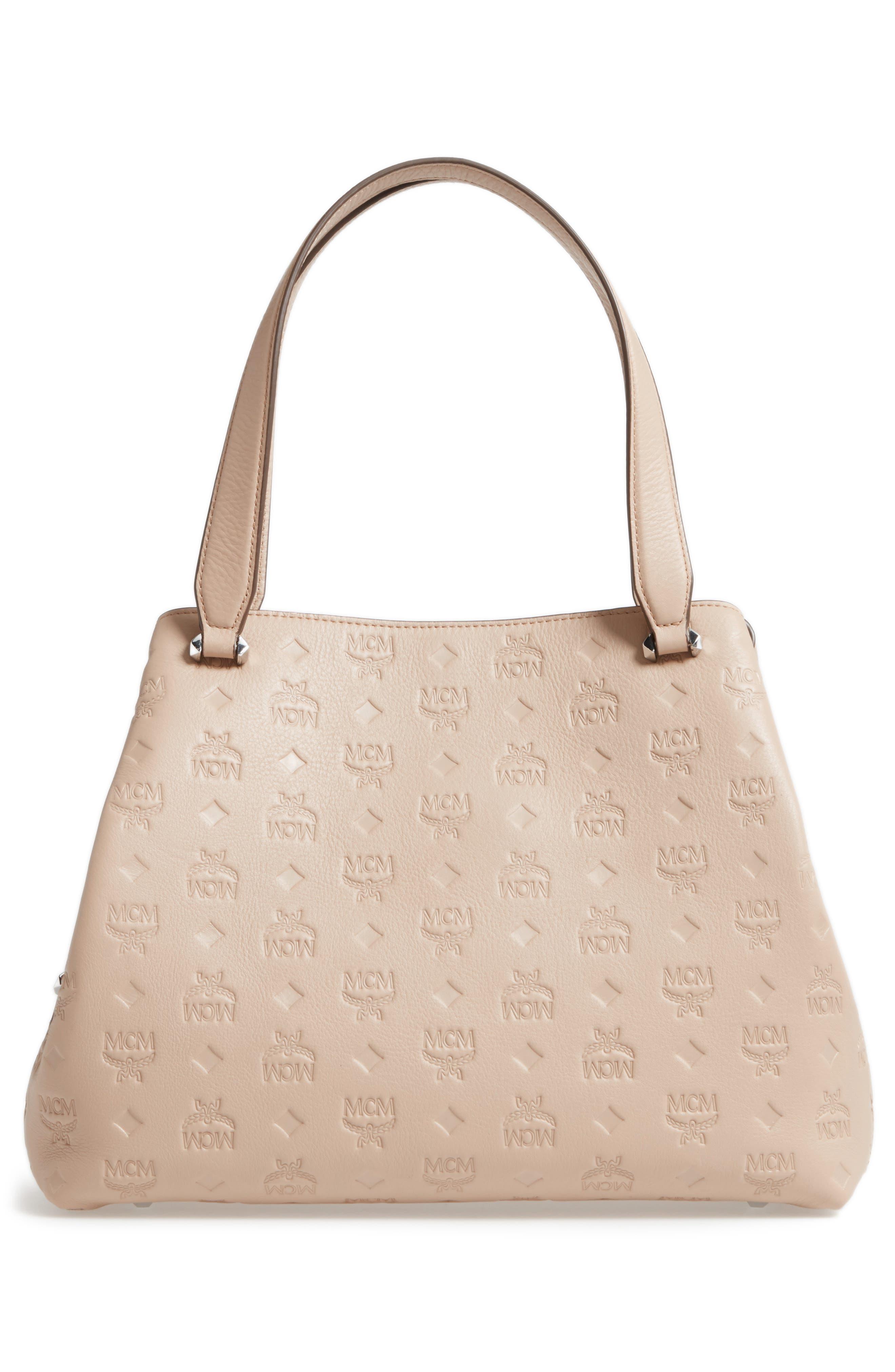 Alternate Image 3  - MCM Signature Monogrammed Leather Handbag