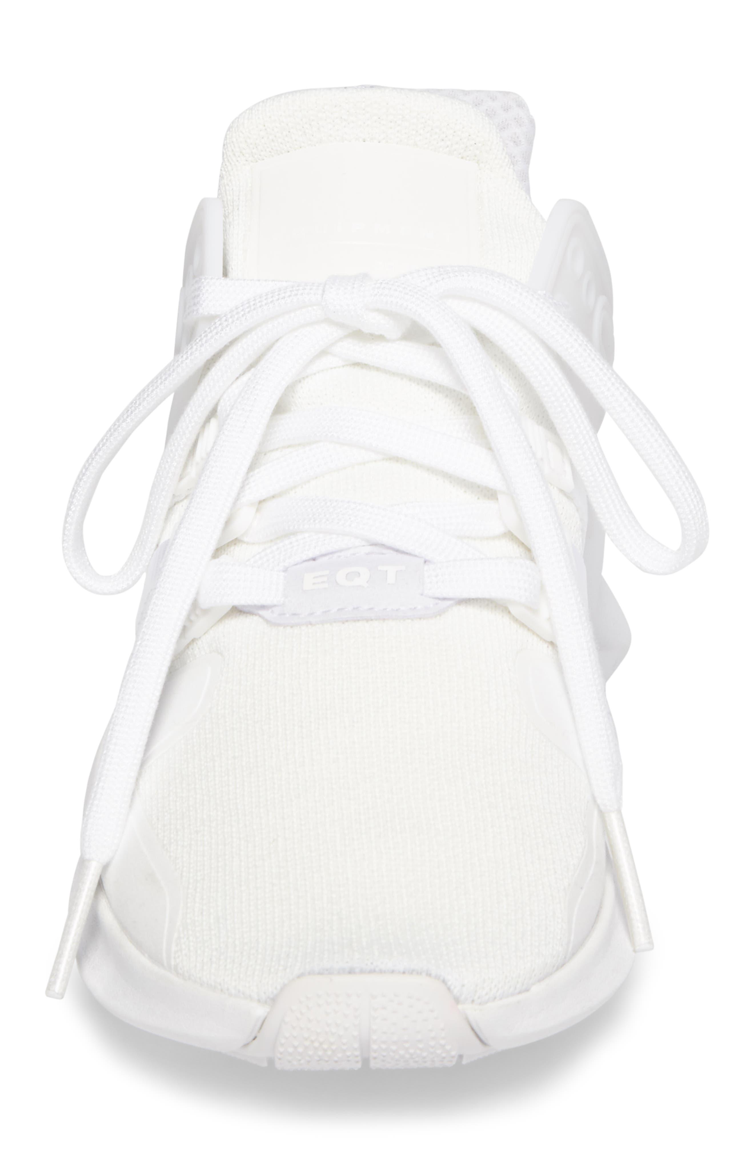 EQT Support Adv Sneaker,                             Alternate thumbnail 4, color,                             White/Core Black