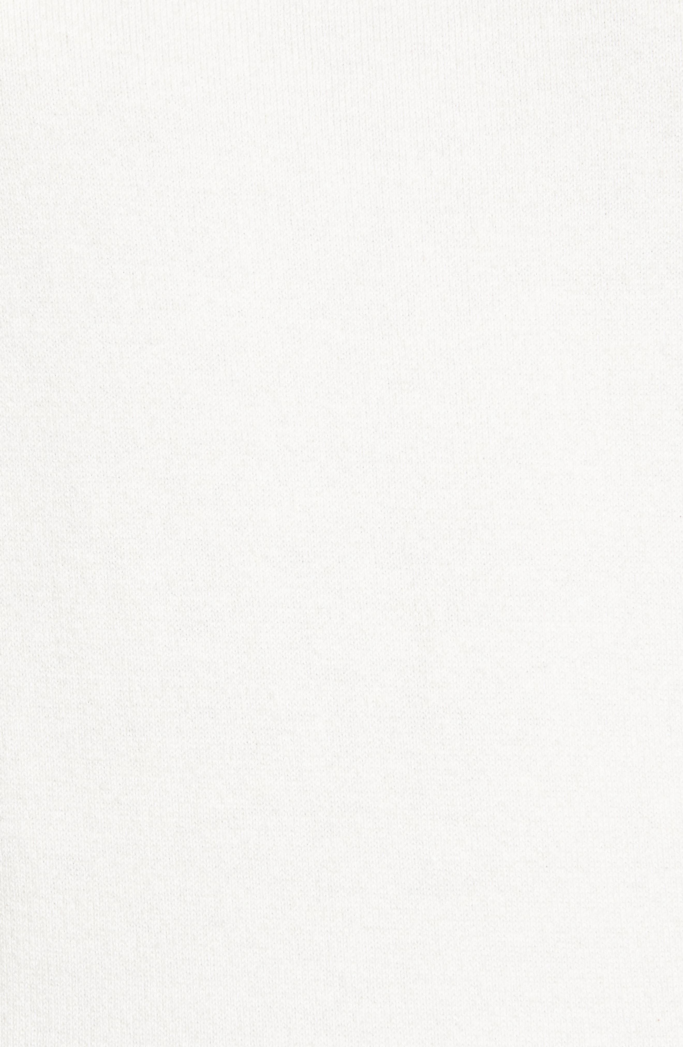 Ruffle Trim Sweater,                             Alternate thumbnail 5, color,                             Ivory Egret