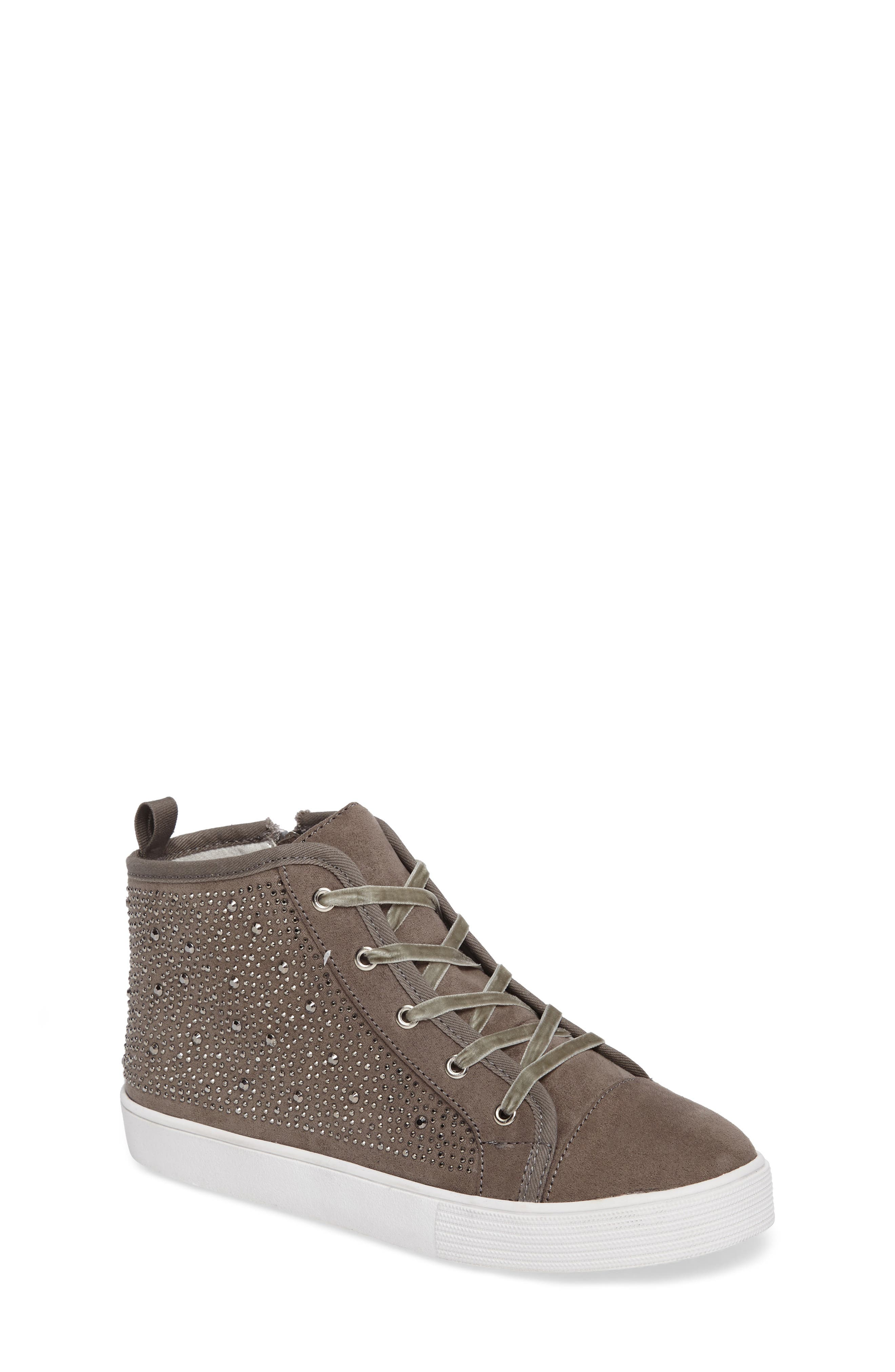 Vance Embellished High Top Sneaker,                             Main thumbnail 1, color,                             Pewter