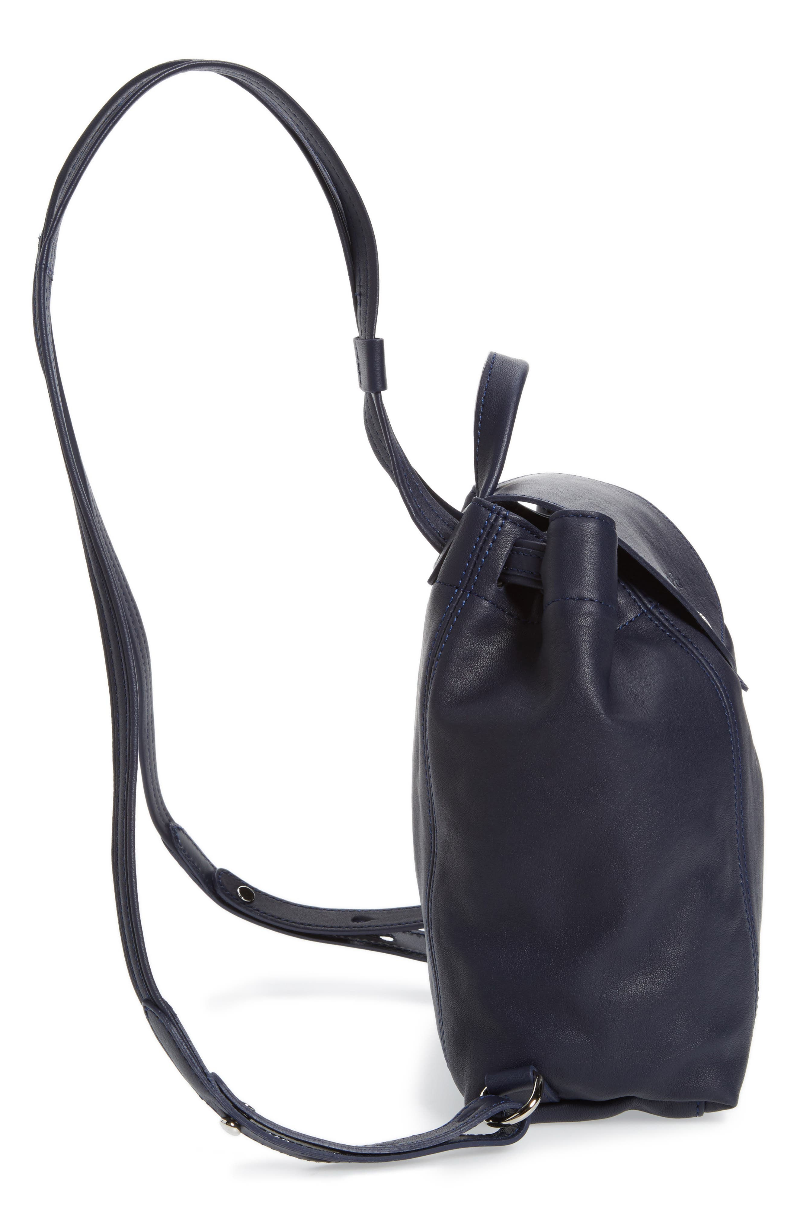 a0881b92b0ea Shop Longchamp Extra Small Le Pliage Cuir Backpack - Blue In Navy