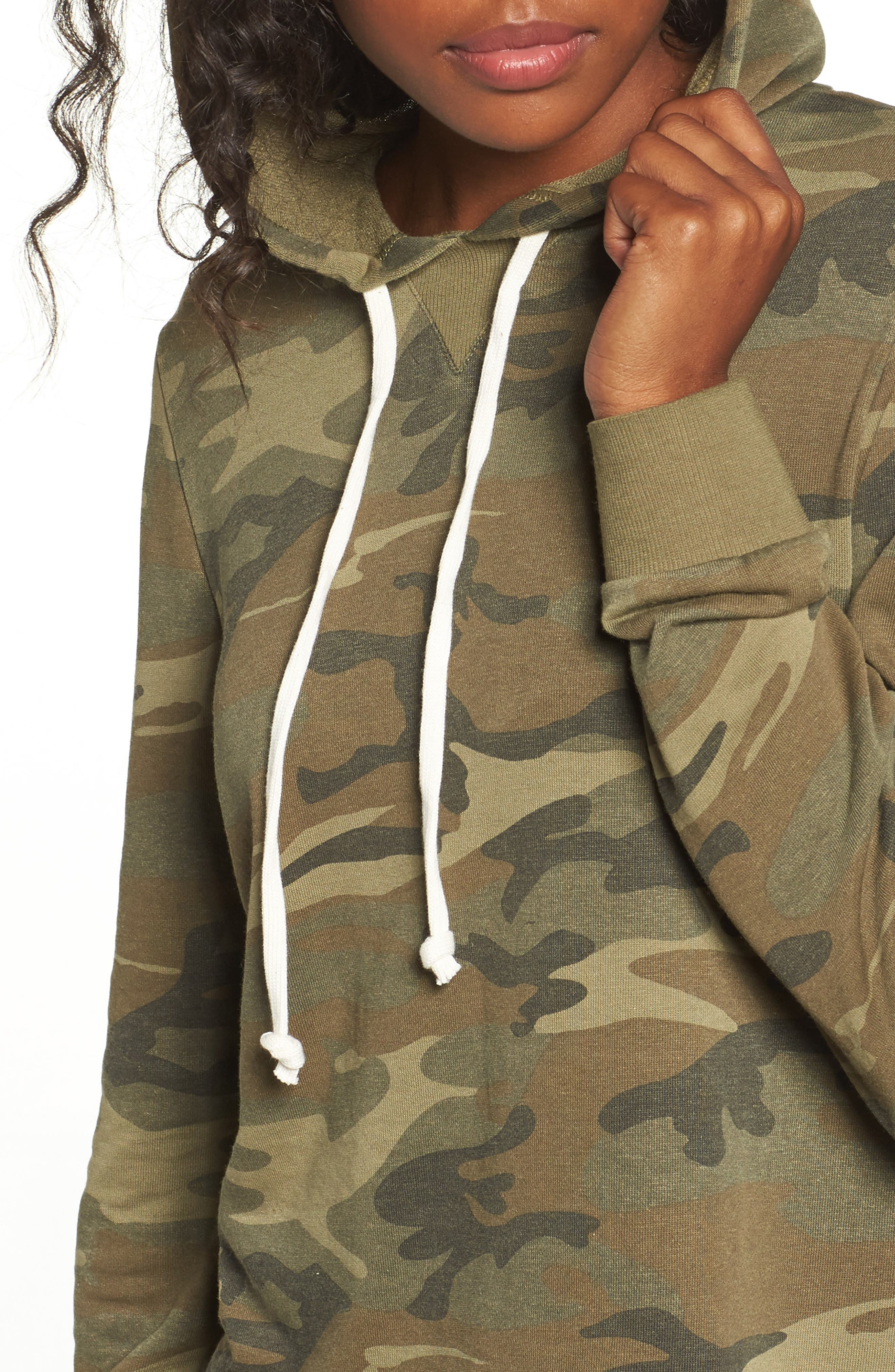 Day Off Hoodie,                             Alternate thumbnail 4, color,                             Camo