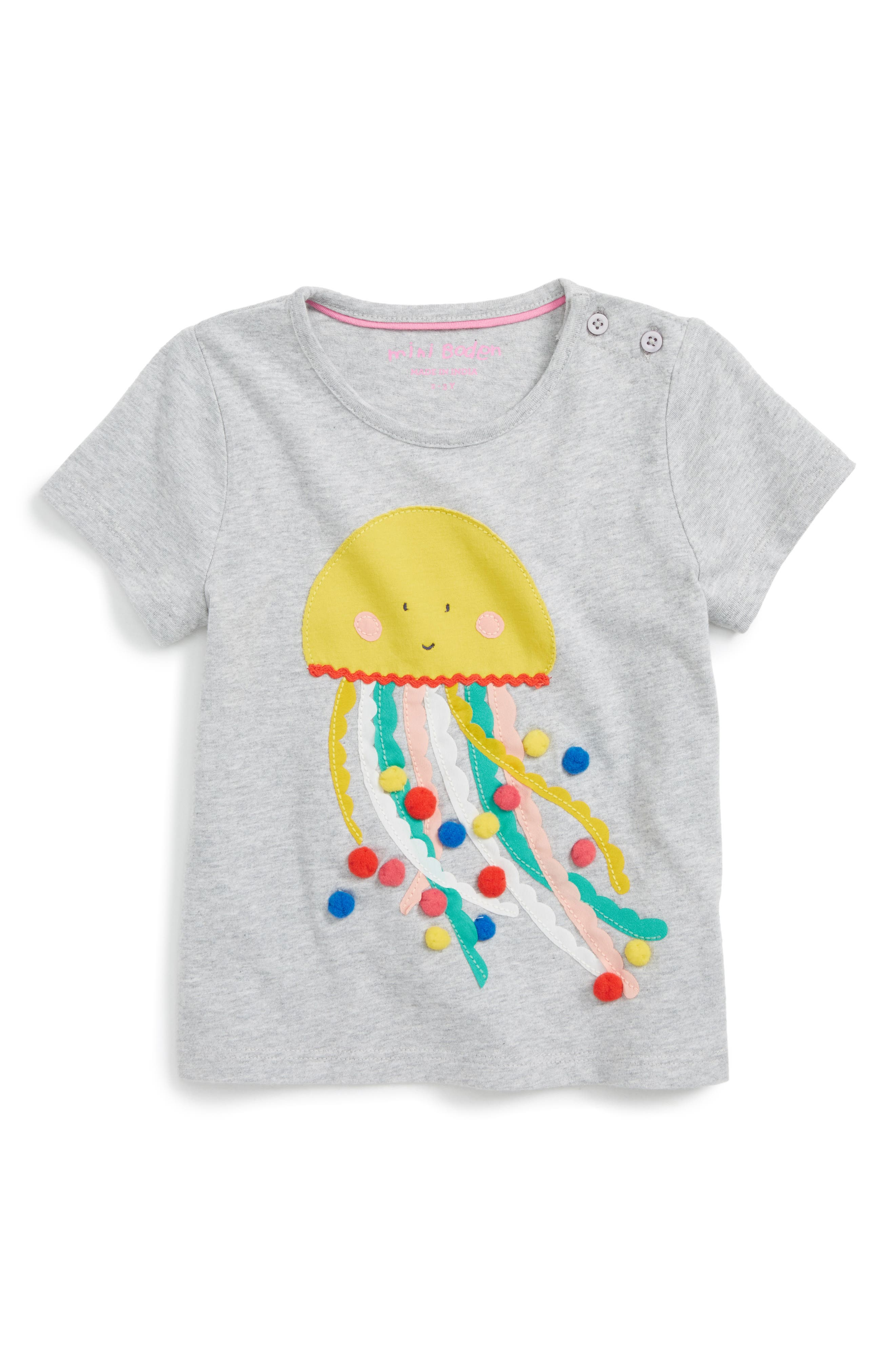 Mini Boden Holiday Appliqué Tee (Toddler Girls, Little Girls & Big Girls)