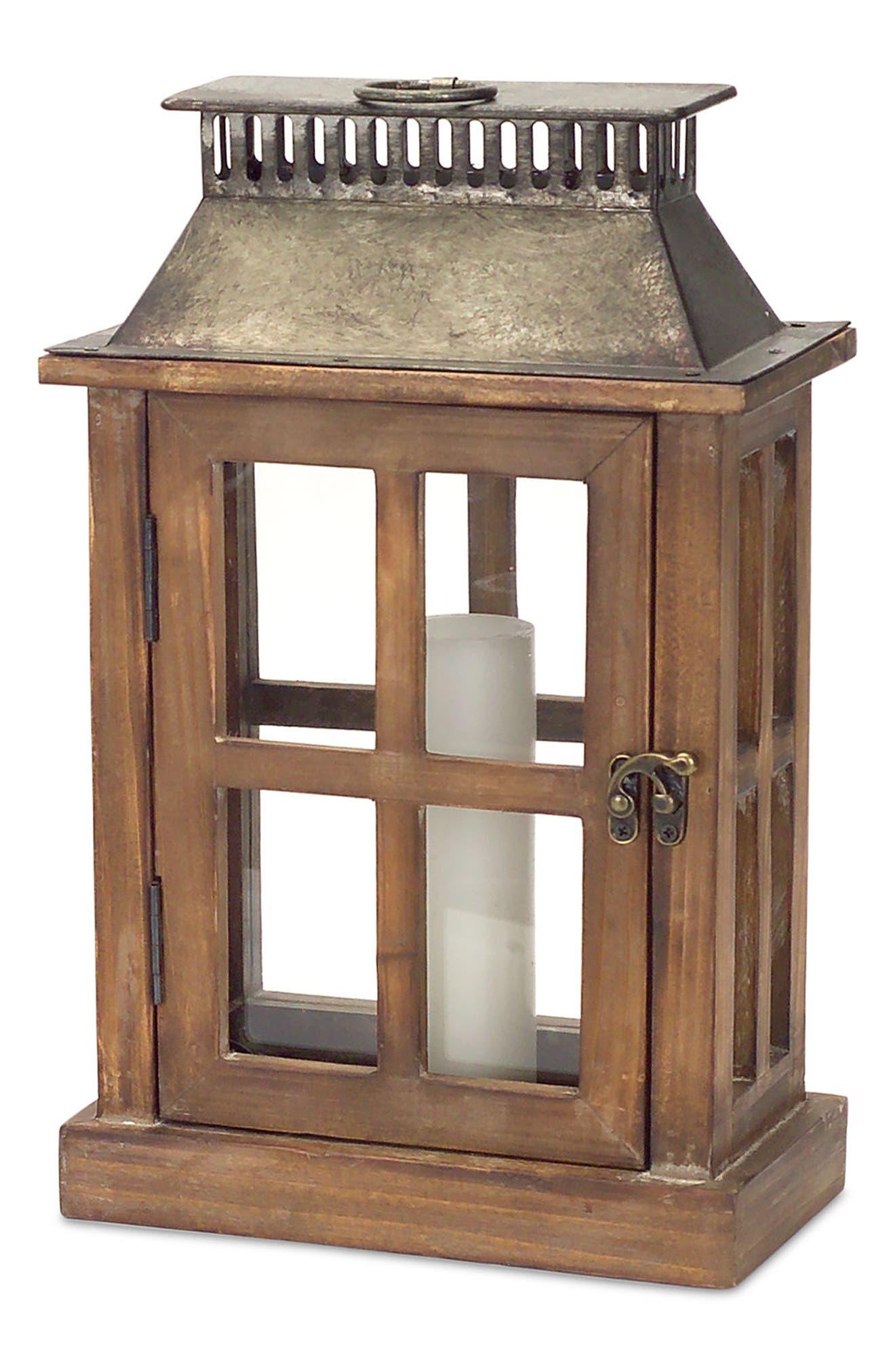 Alternate Image 4  - Melrose Gifts Decorative Wood & Metal Lantern