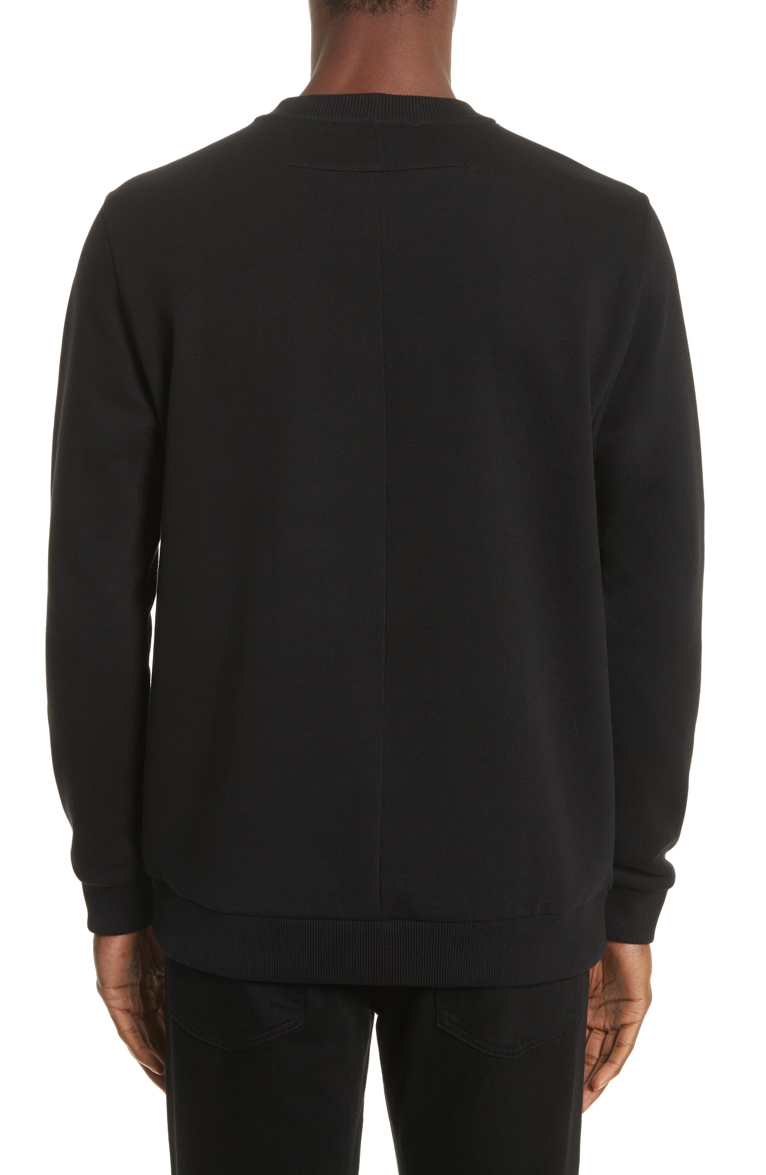 Flying Bands Crewneck Sweatshirt,                             Alternate thumbnail 2, color,                             Black