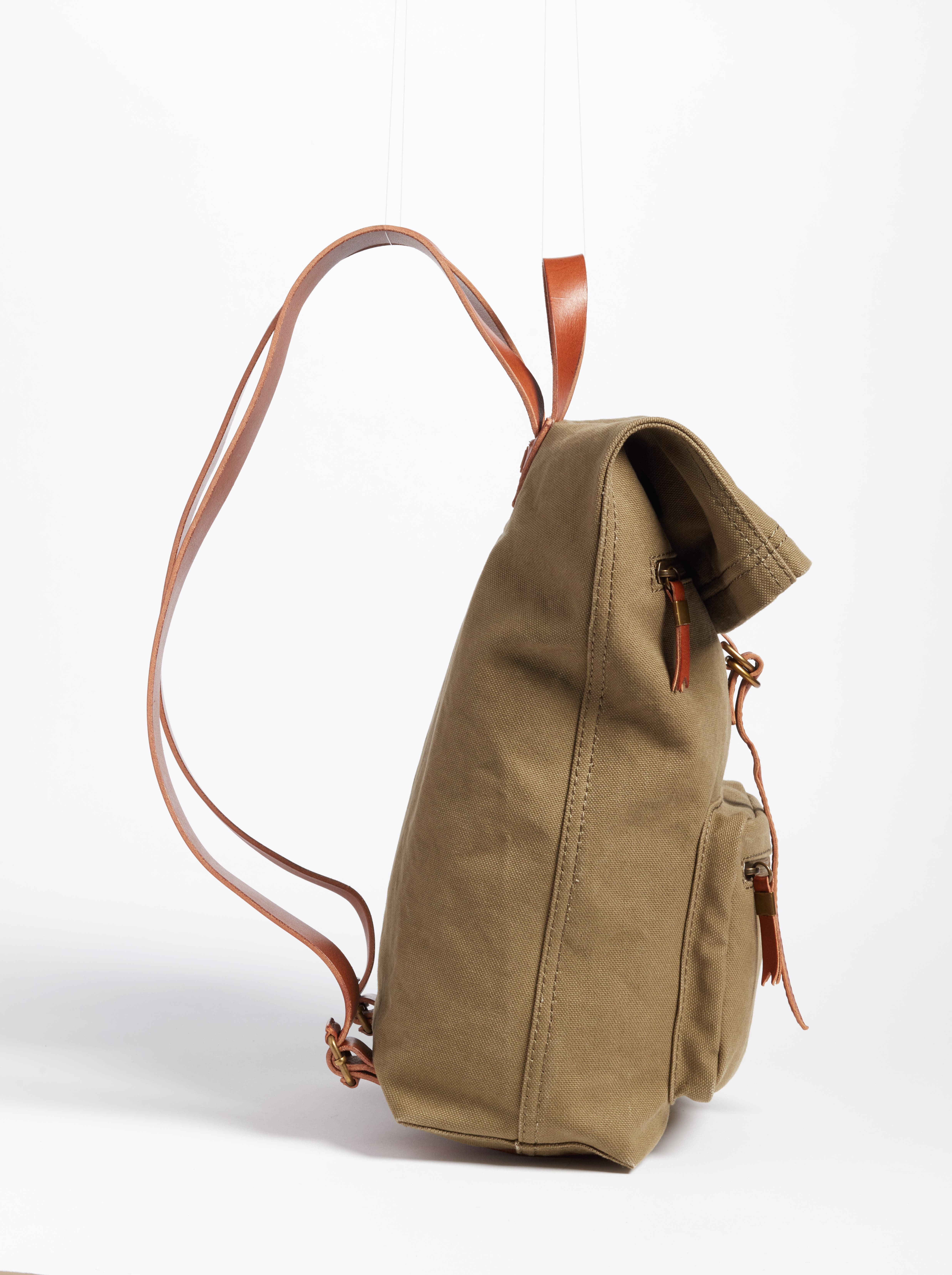 The Canvas Foldover Backpack,                             Alternate thumbnail 5, color,                             British Surplus