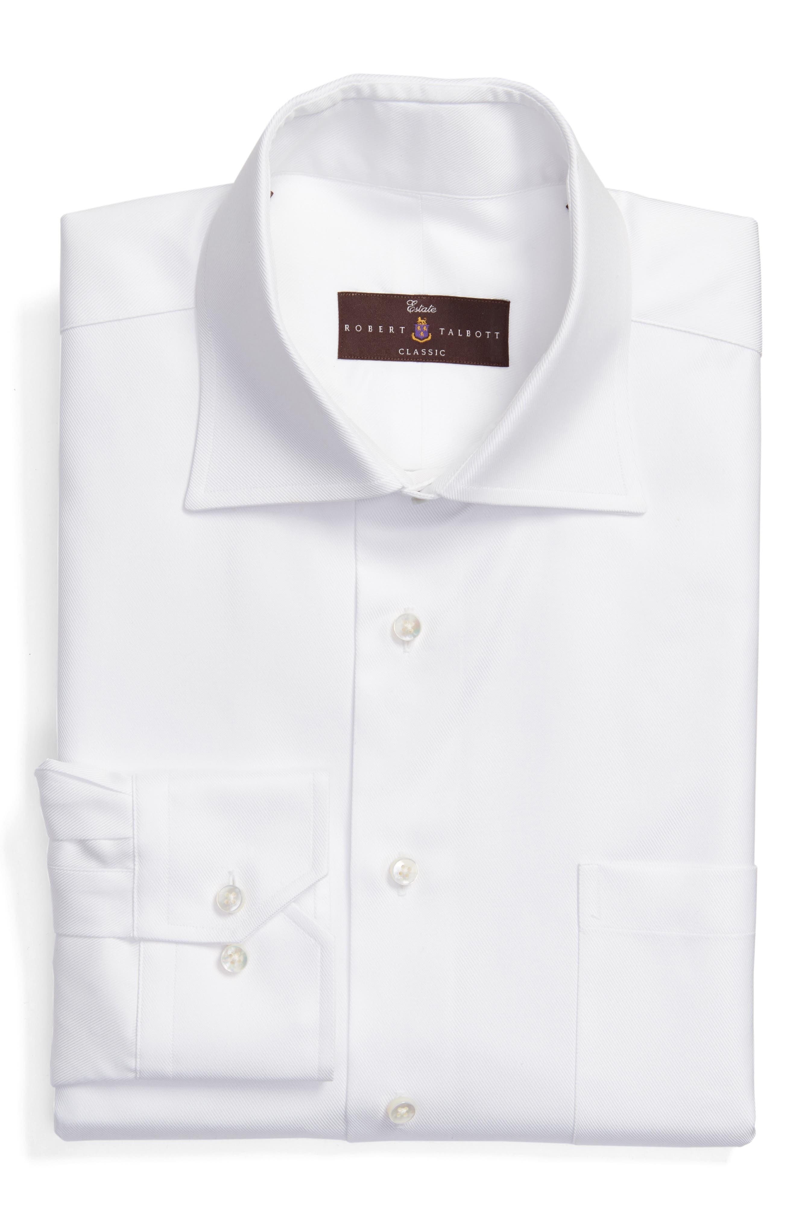 Classic Fit Dress Shirt,                         Main,                         color, White