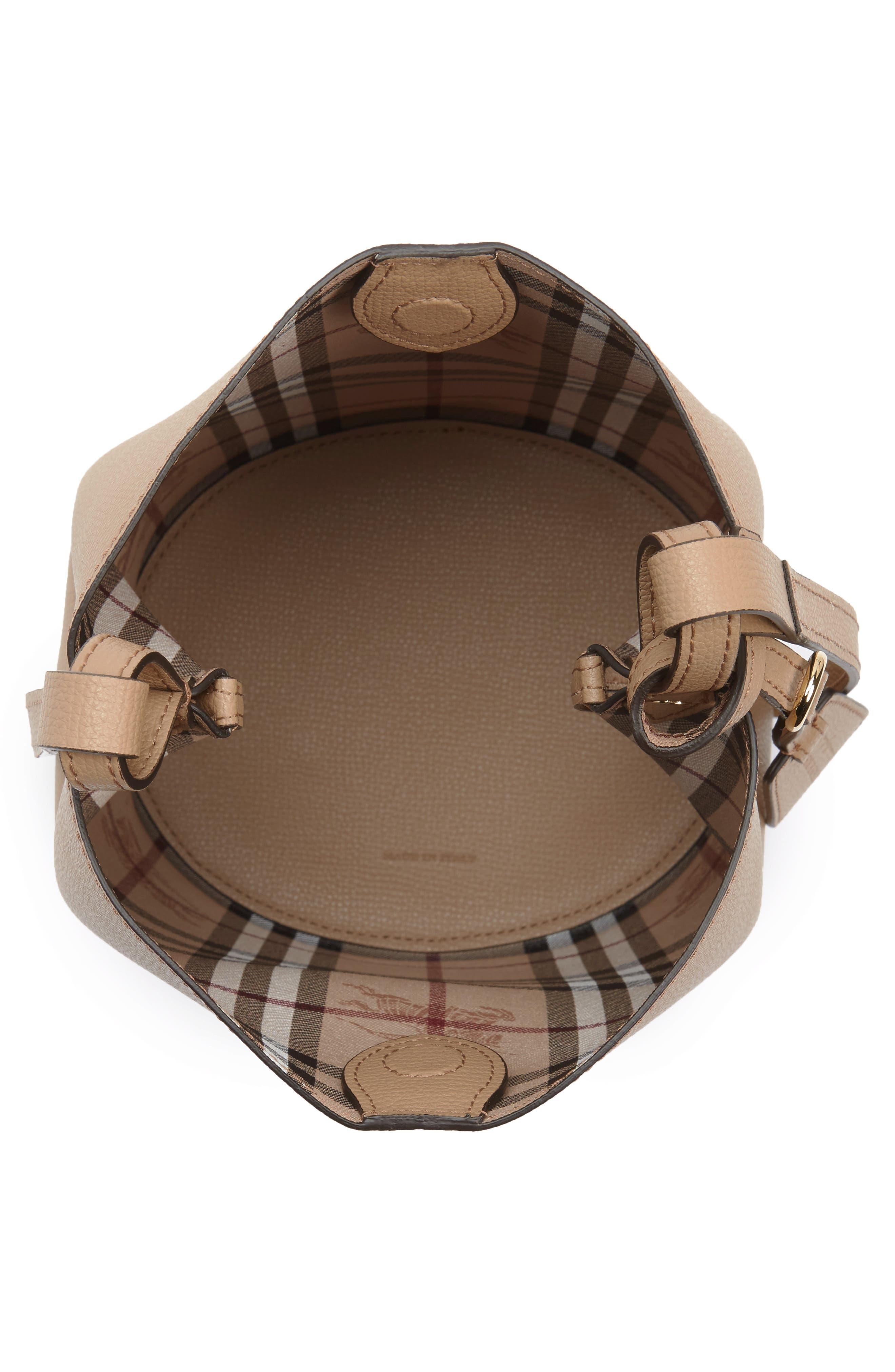 Alternate Image 5  - Burberry Small Lorne Leather Bucket Bag