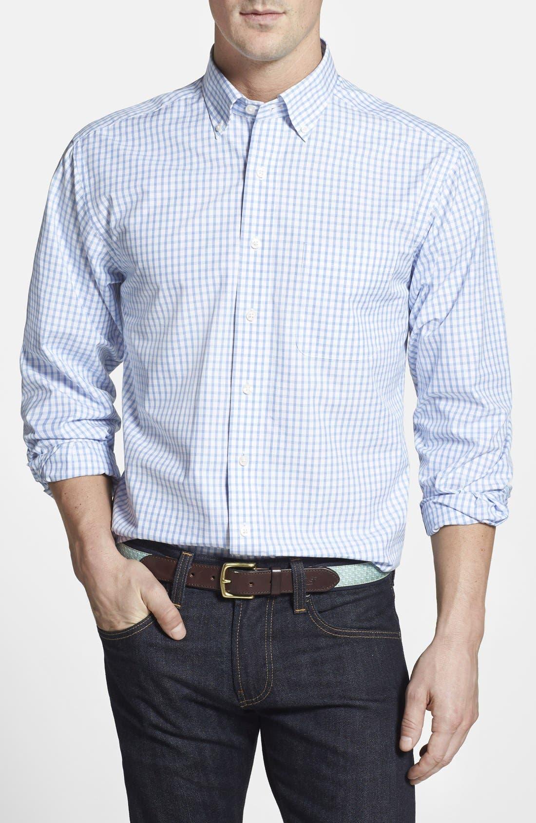 VINEYARD VINES Murray Classic Fit Check Poplin Sport Shirt