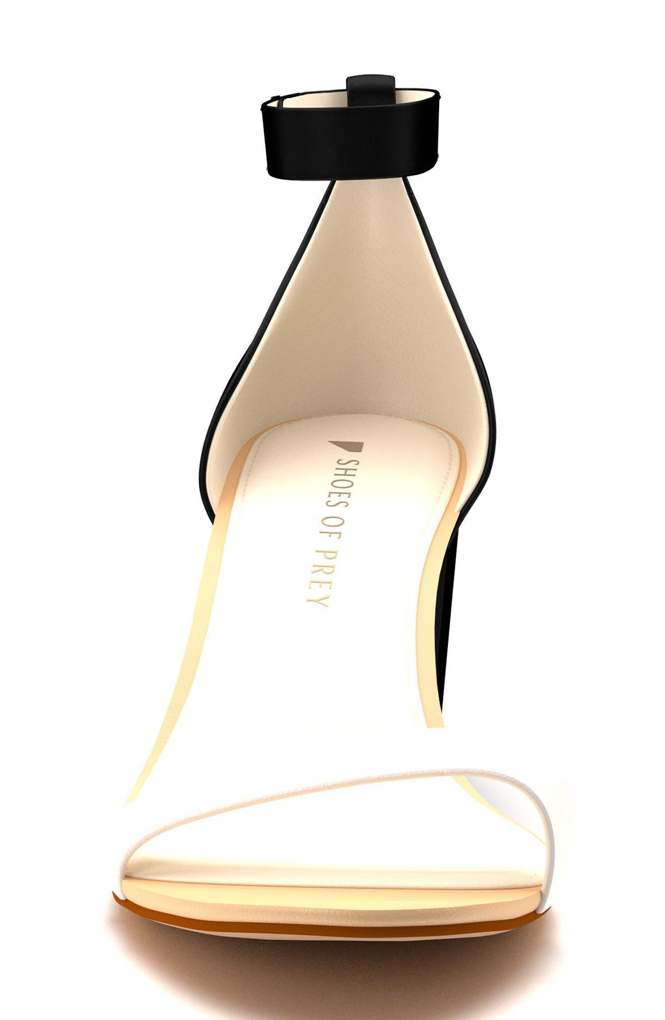 Ankle Strap Block Heel Sandal,                             Alternate thumbnail 2, color,                             Black Leather