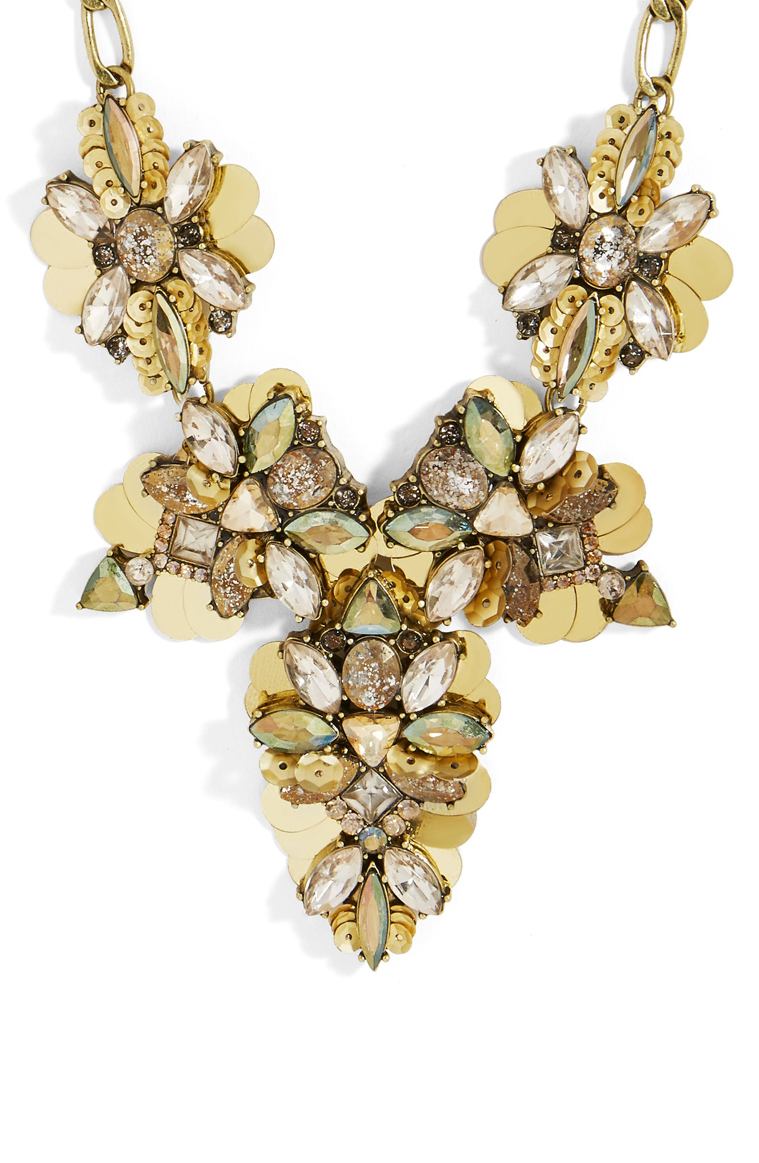 Duchess Statement Necklace,                             Alternate thumbnail 2, color,                             Gold