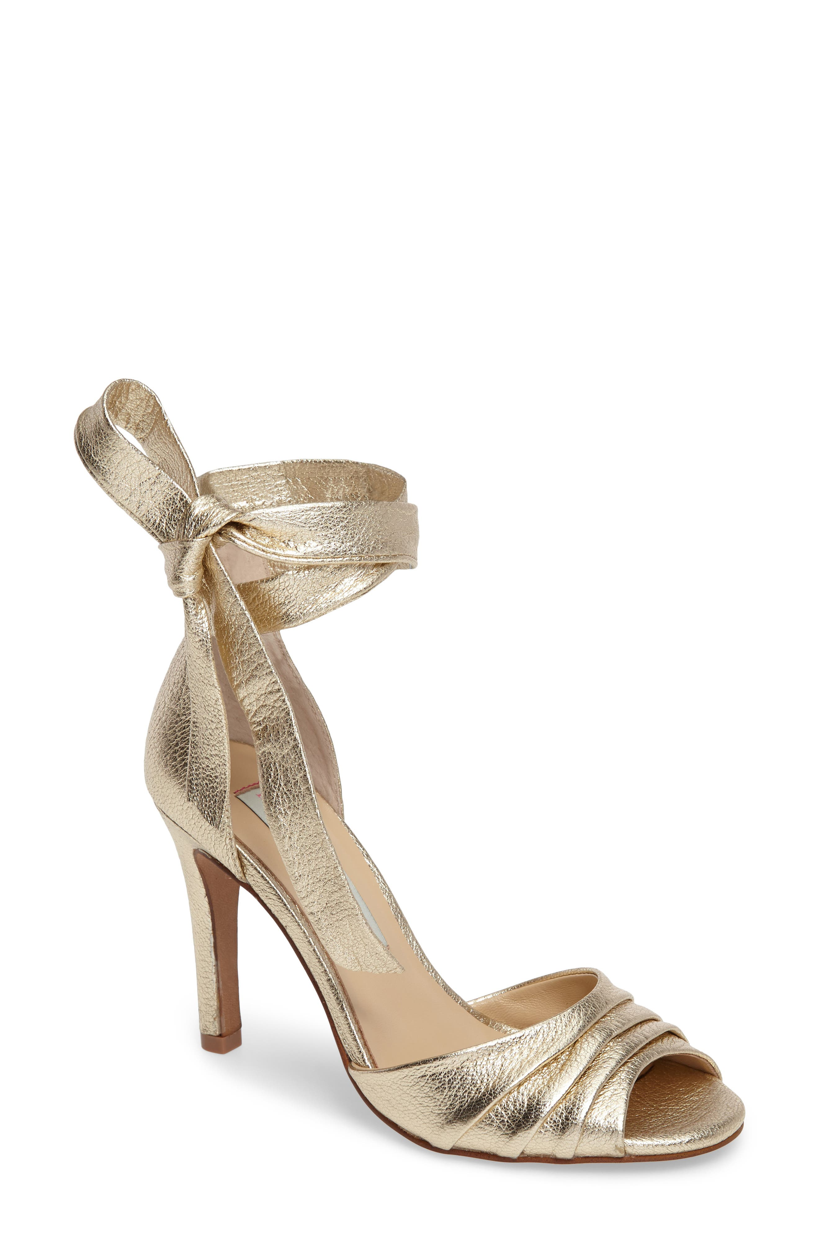 Lilac Sandal,                         Main,                         color, Gold Leather