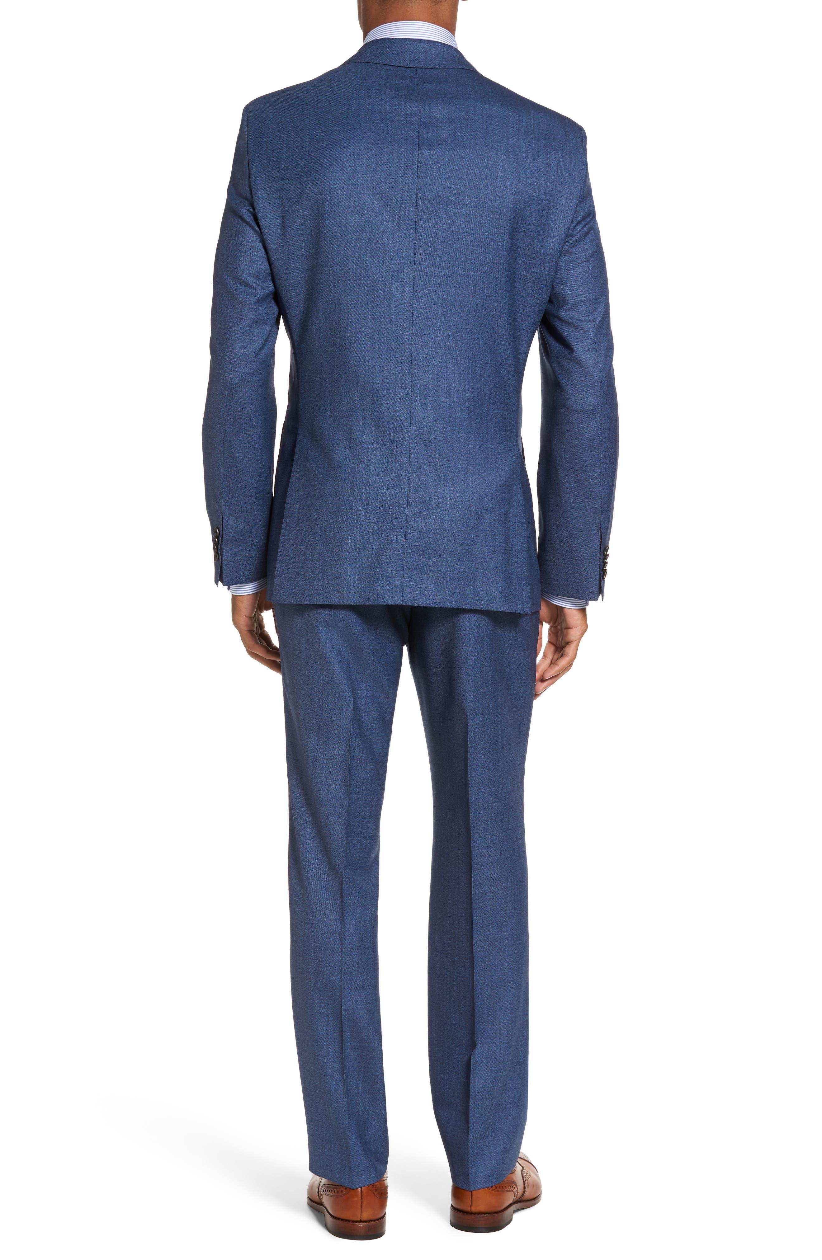 Johnstons/Lenon Classic Fit Solid Wool Suit,                             Alternate thumbnail 2, color,                             Medium Blue