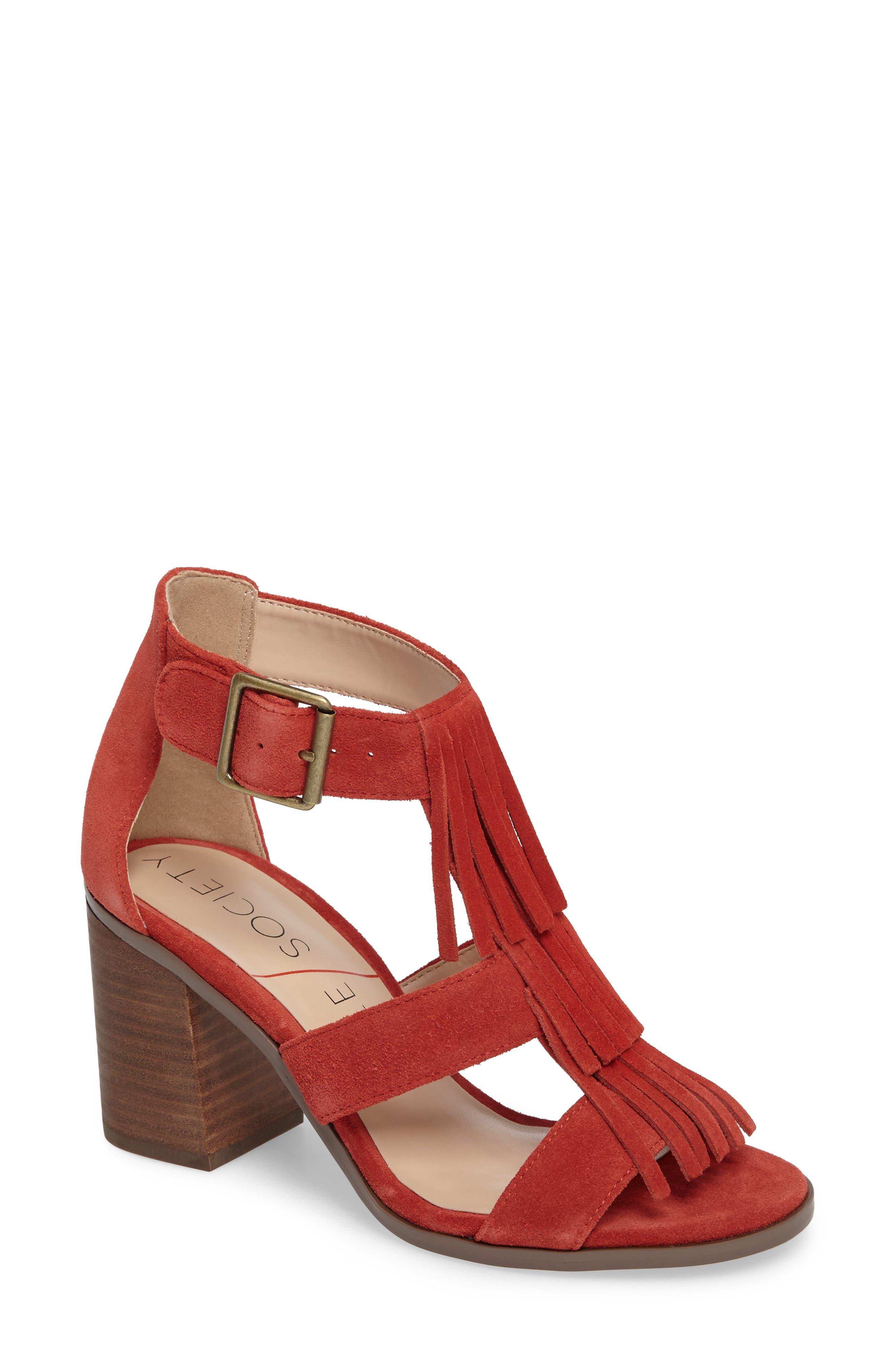 Alternate Image 1 Selected - Sole Society 'Delilah' Fringe Sandal (Women)