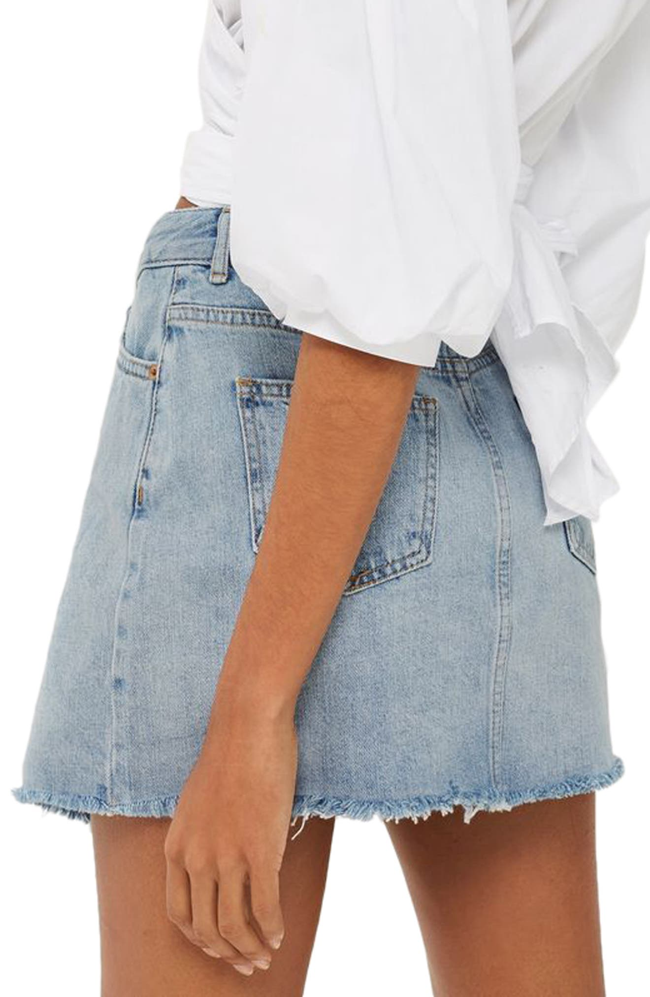 Alternate Image 2  - Topshop Deconstructed Wrap Denim Skirt