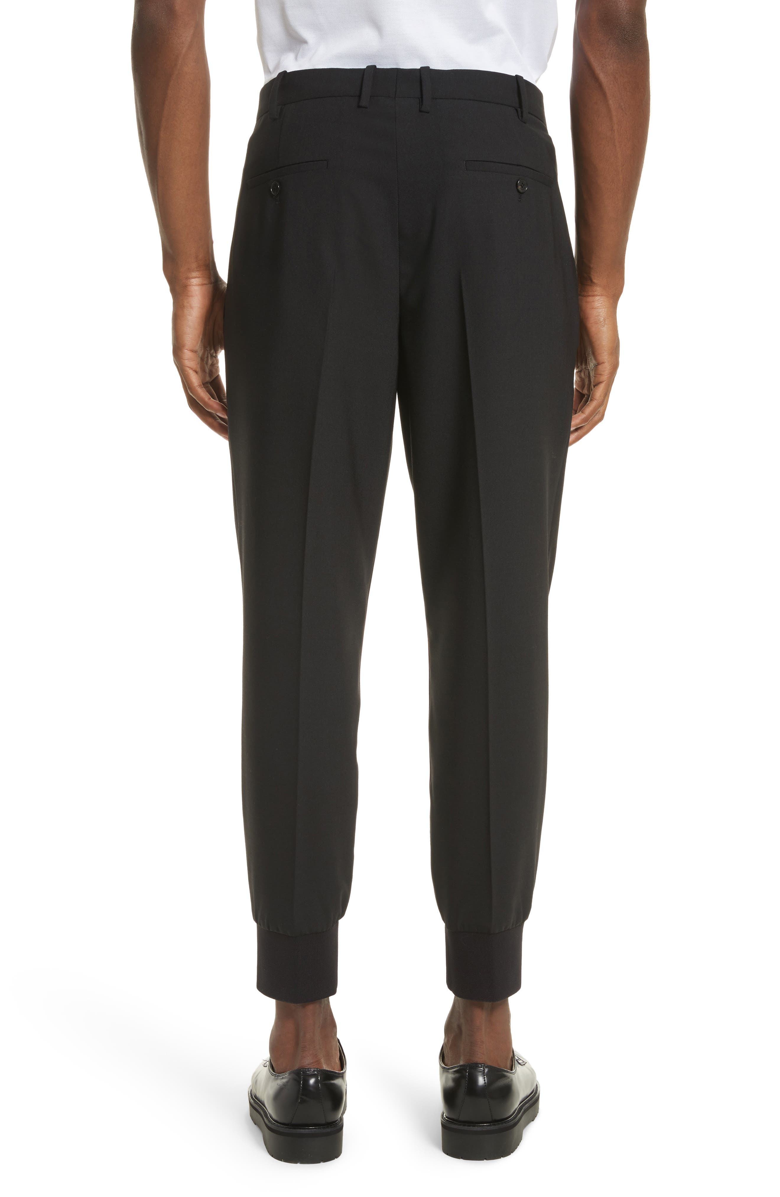 Piped Woven Jogger Pants,                             Alternate thumbnail 2, color,                             Black/ Red