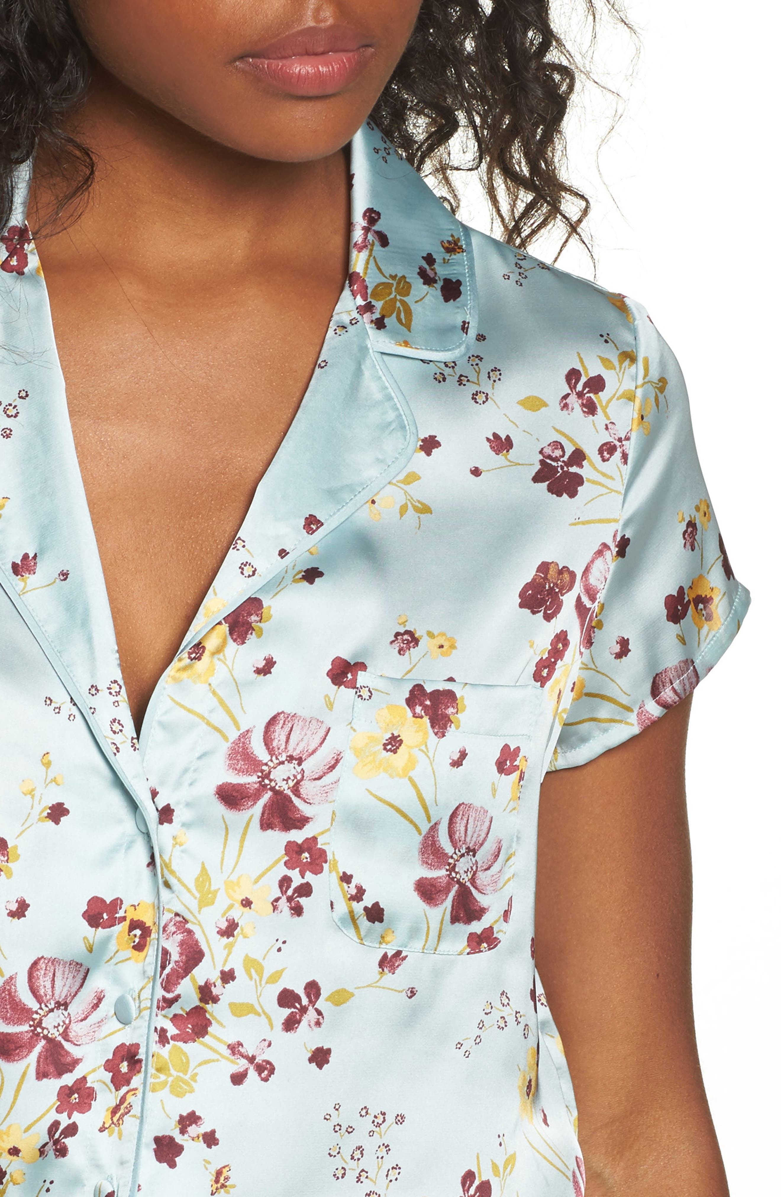 Alternate Image 4  - Chelsea28 Satin Pajamas