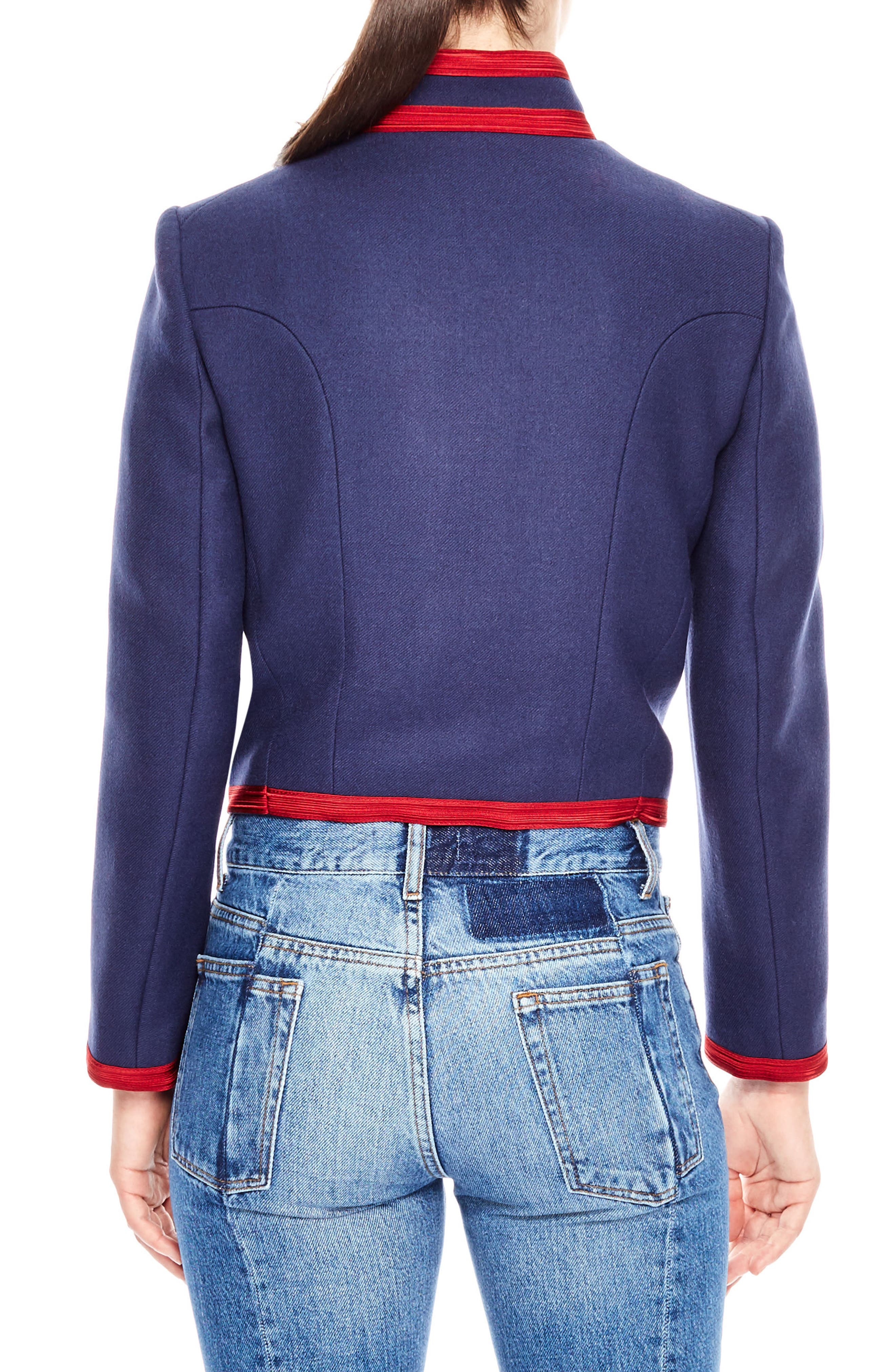 Wool Soldier Jacket,                             Alternate thumbnail 2, color,                             Cobalt