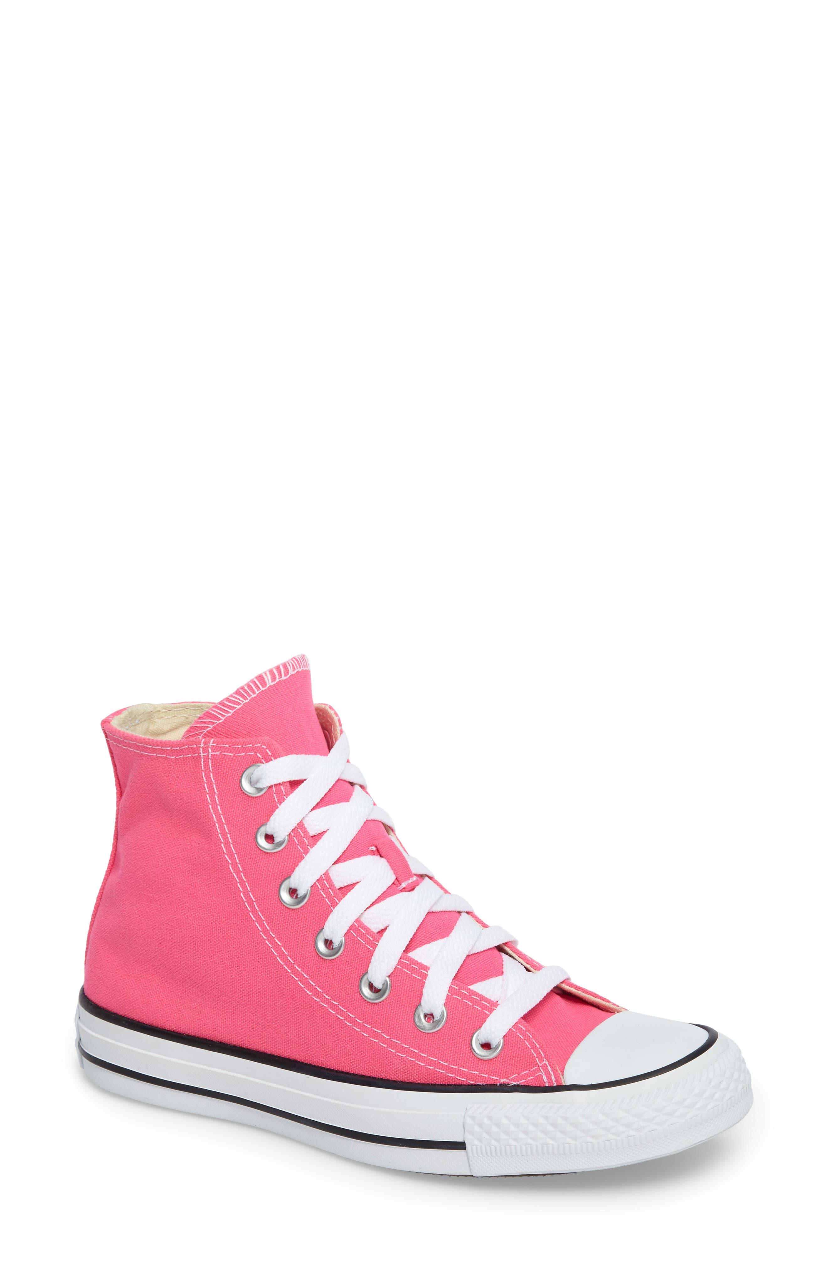 Chuck Taylor<sup>®</sup> All Star<sup>®</sup> Seasonal Hi Sneaker,                             Main thumbnail 1, color,                             Petal Pink