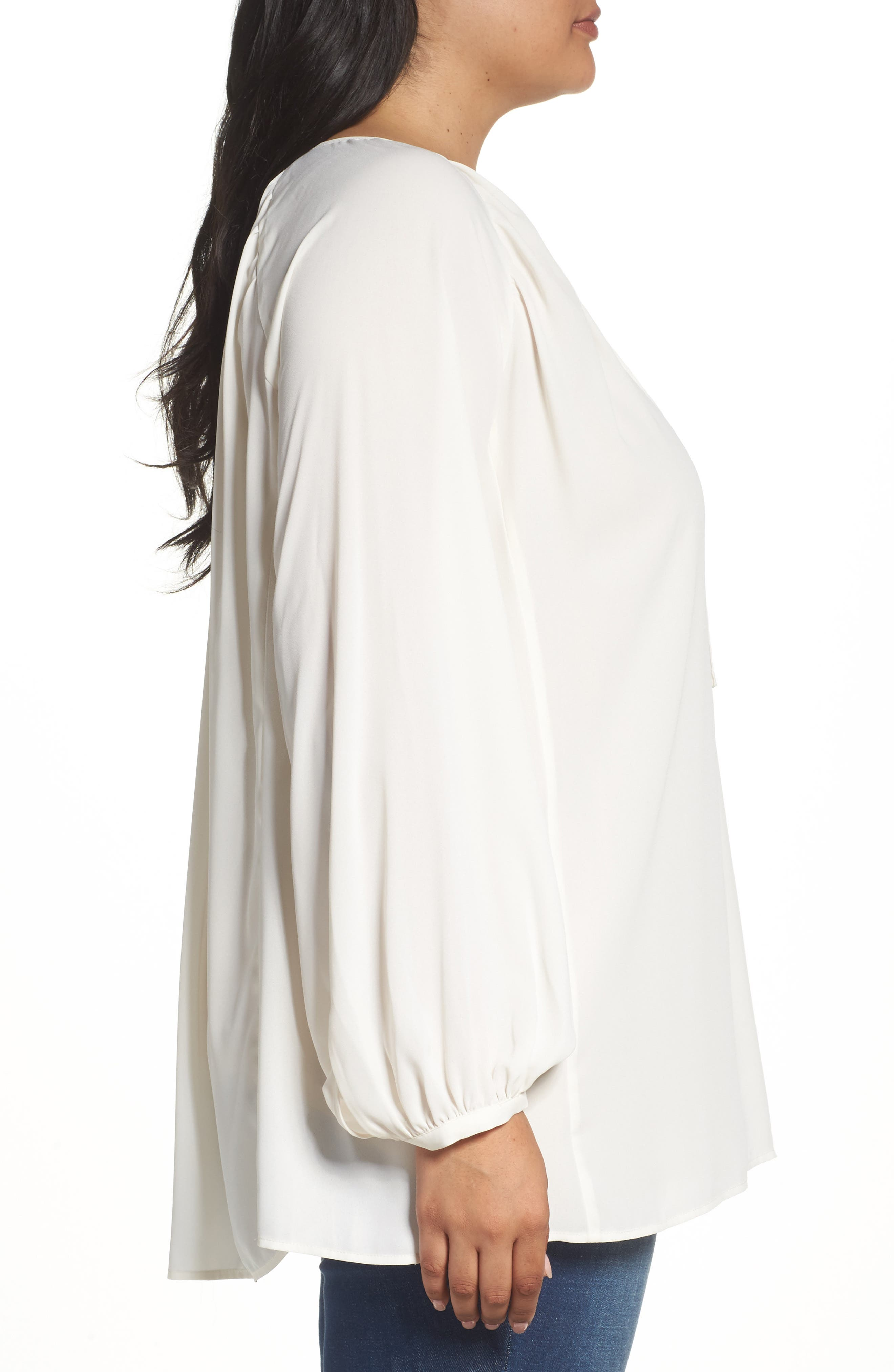 Alternate Image 3  - Sejour Raglan Sleeve Poet Tunic (Plus Size)