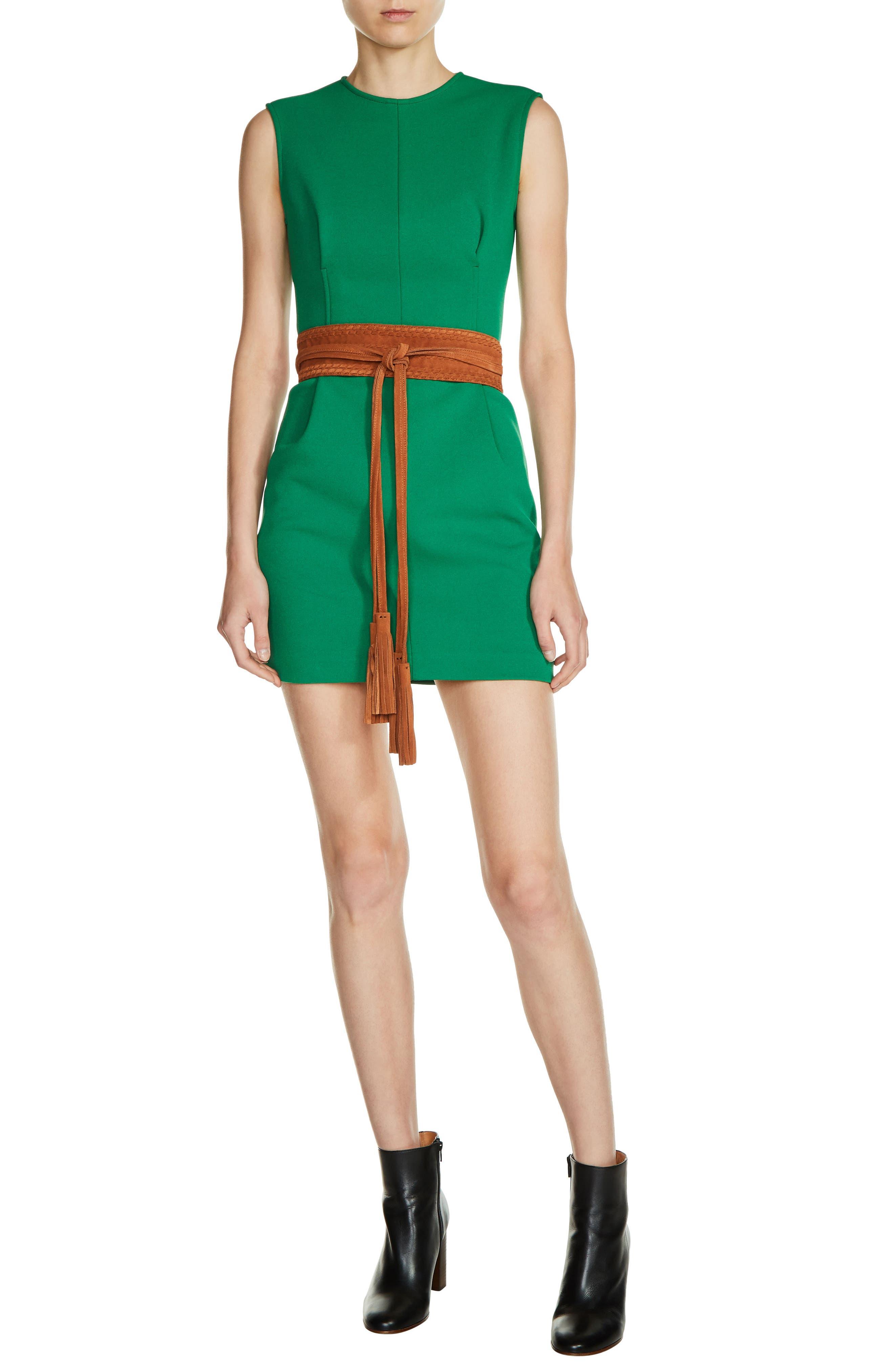 Main Image - maje Belted Dress