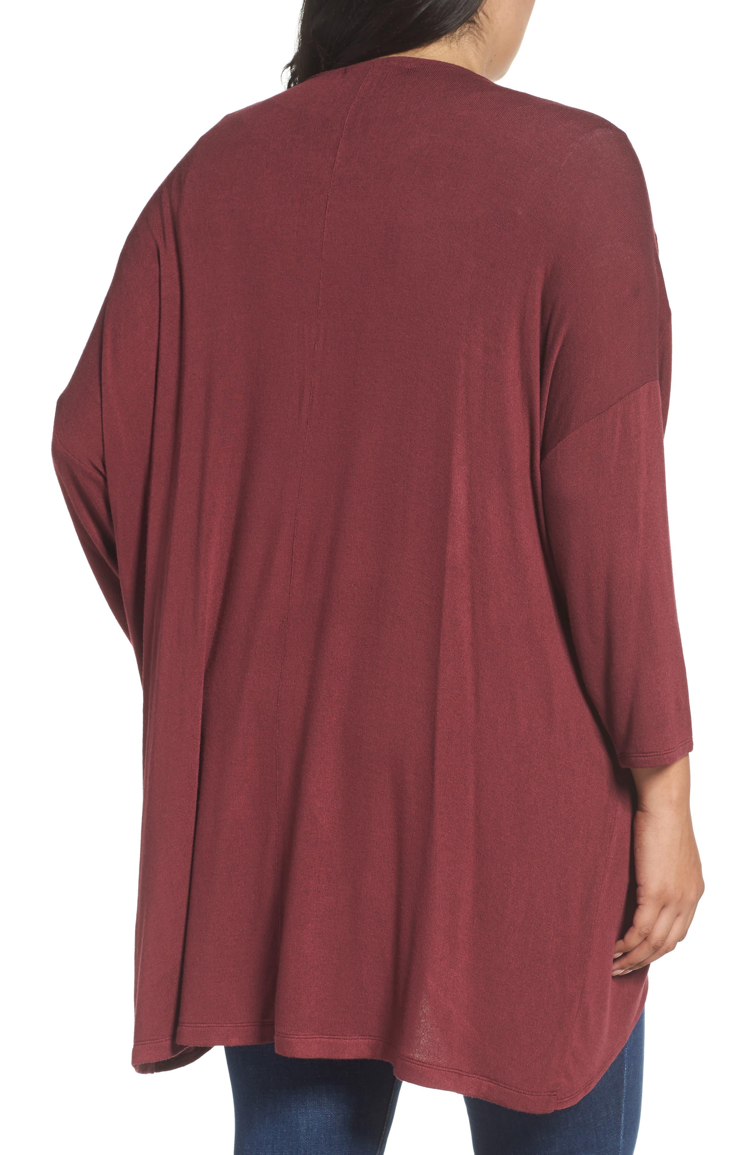 Alternate Image 2  - Sejour Lightweight Cardigan (Plus Size)