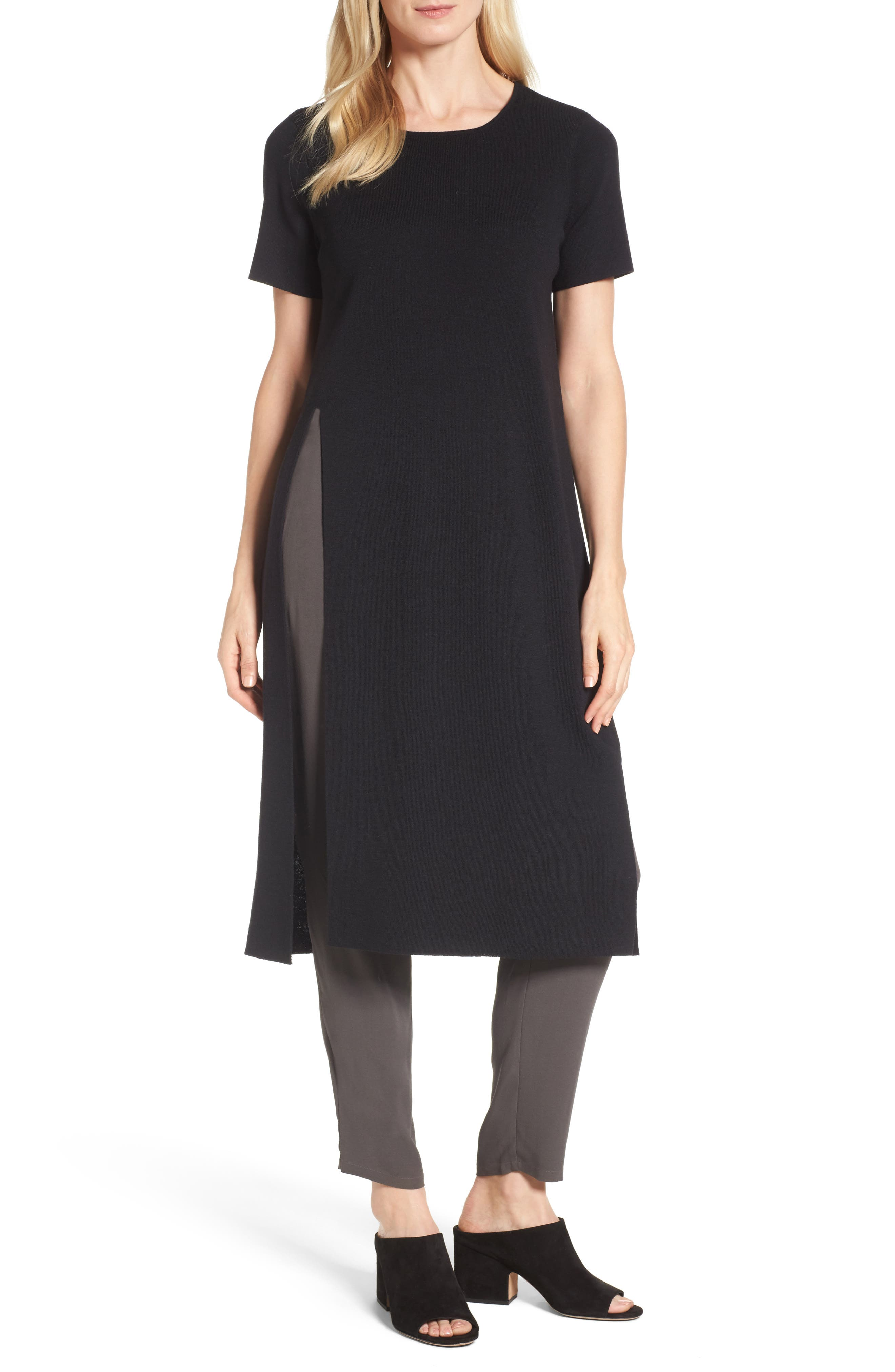 Eileen Fisher Long Wool Knit Tunic