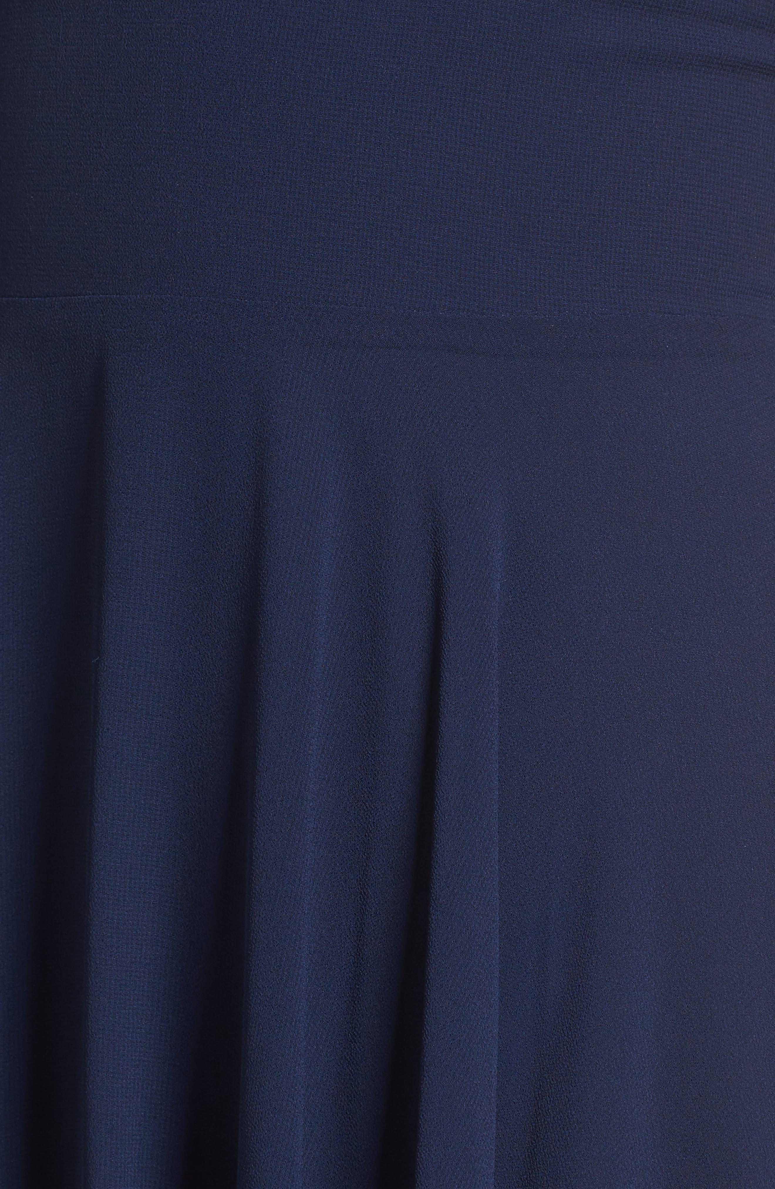Alternate Image 5  - Lulus Lace Trim Chiffon Maxi Dress