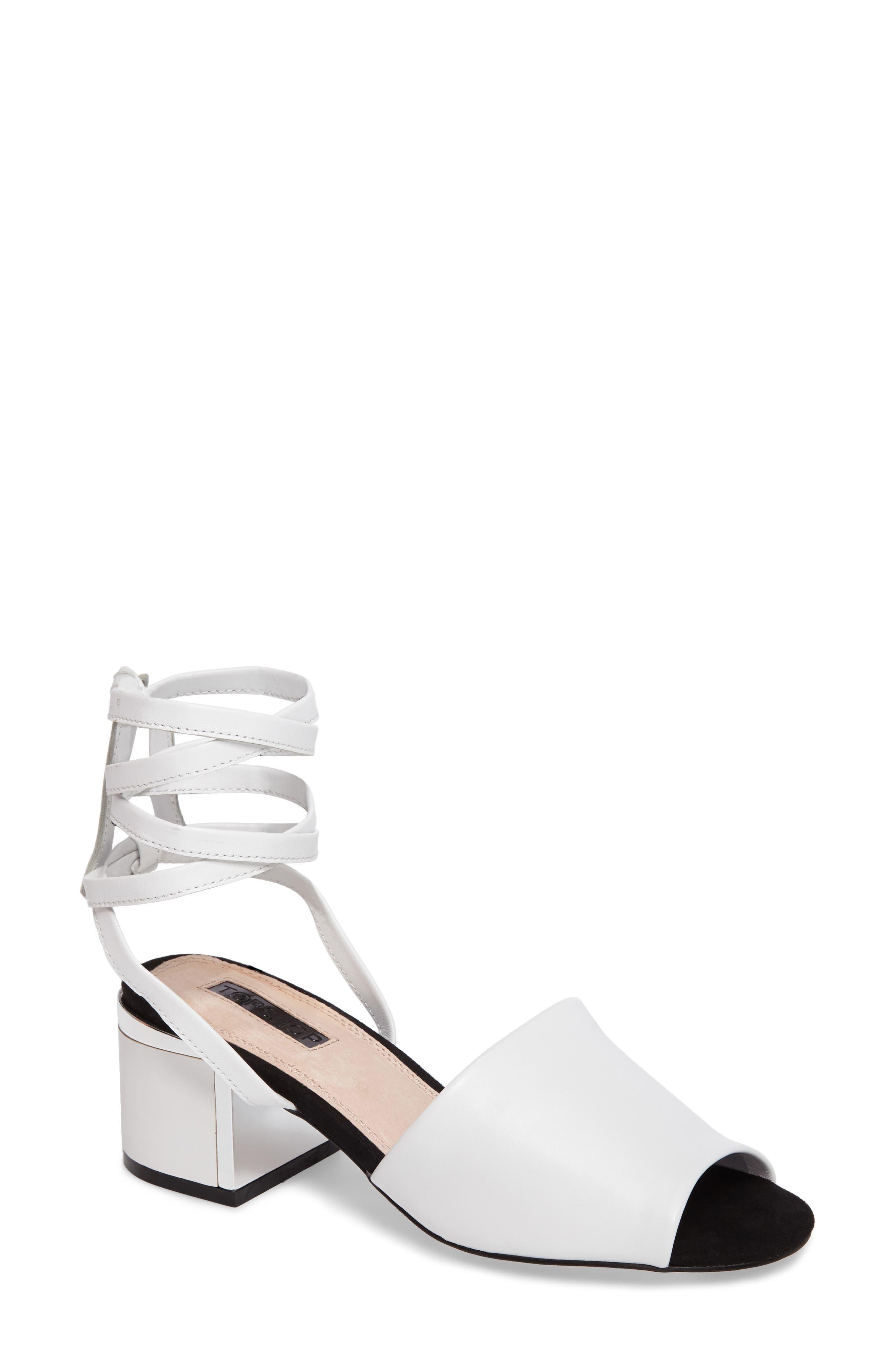 Topshop Neeve Lace-Up Sandal (Women)