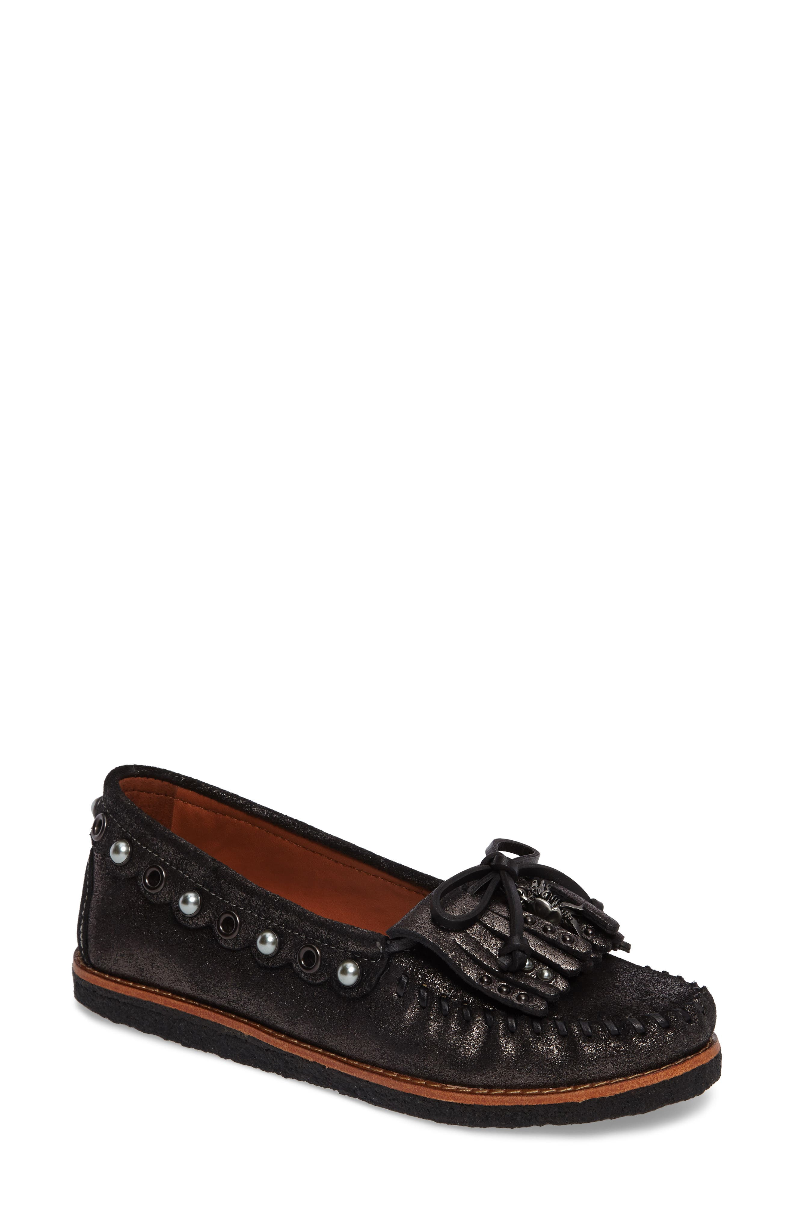 Roccasin Flat,                             Main thumbnail 1, color,                             Anthracite Suede