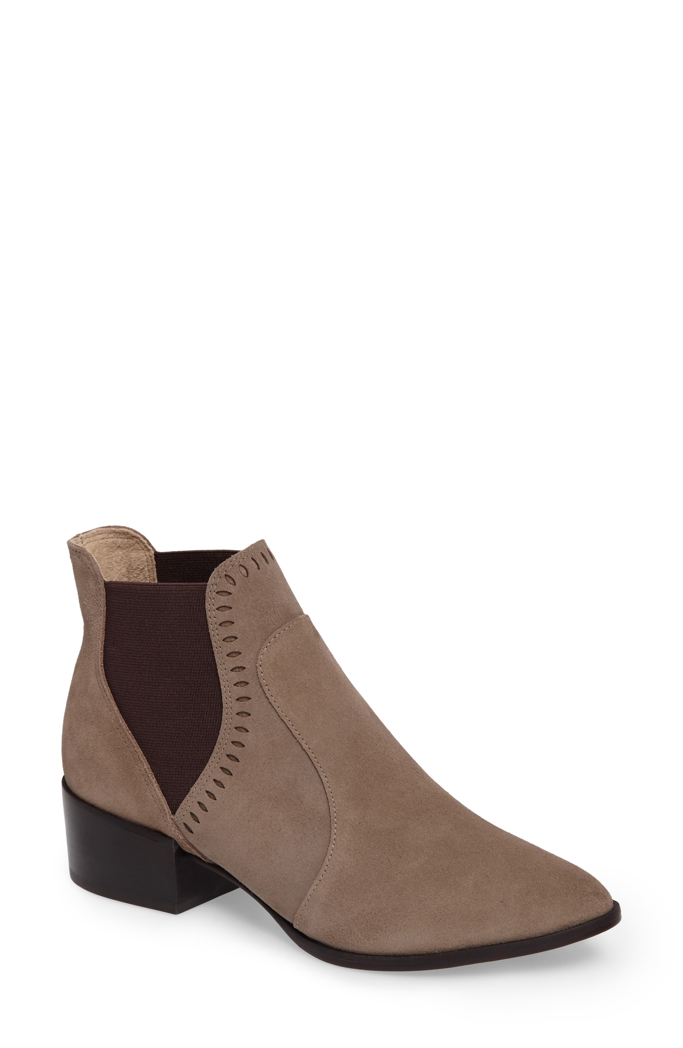 Zafira Chelsea Boot,                         Main,                         color, Taupe Suede