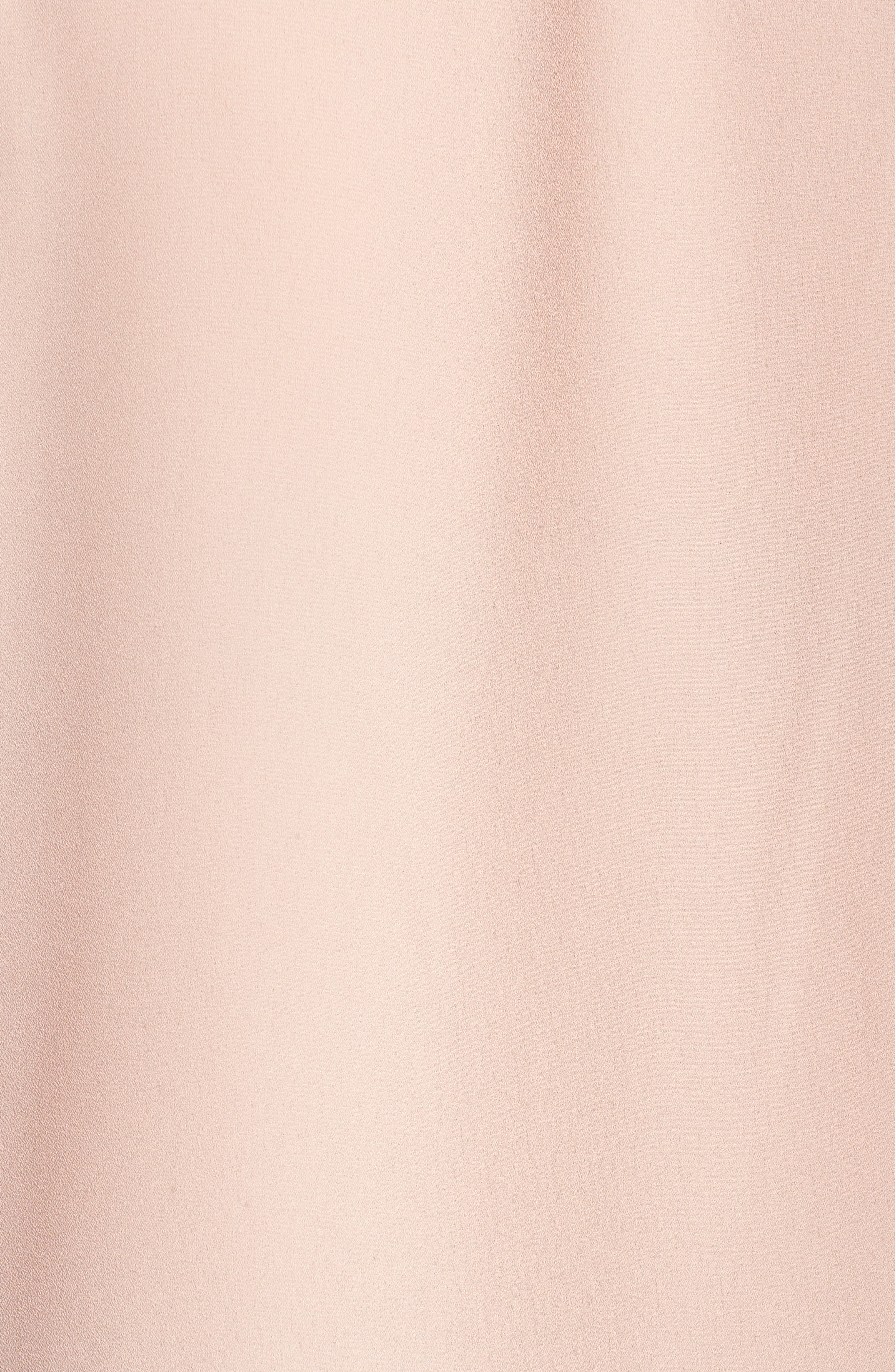 Embroidered Yoke Cap Sleeve Blouse,                             Alternate thumbnail 5, color,                             Blush