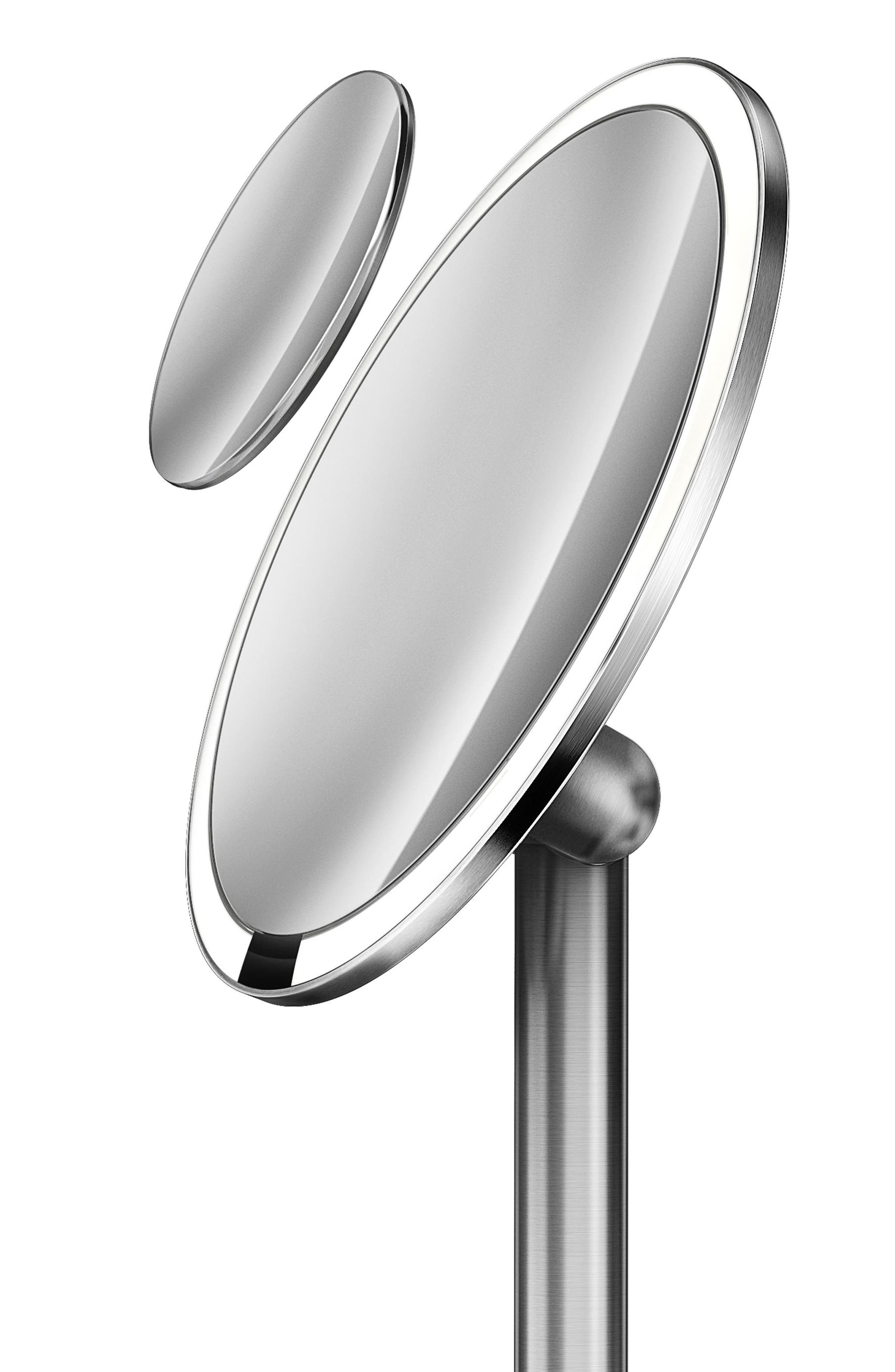 Round Sensor Mirror Pro,                             Alternate thumbnail 4, color,                             Stainless Steel