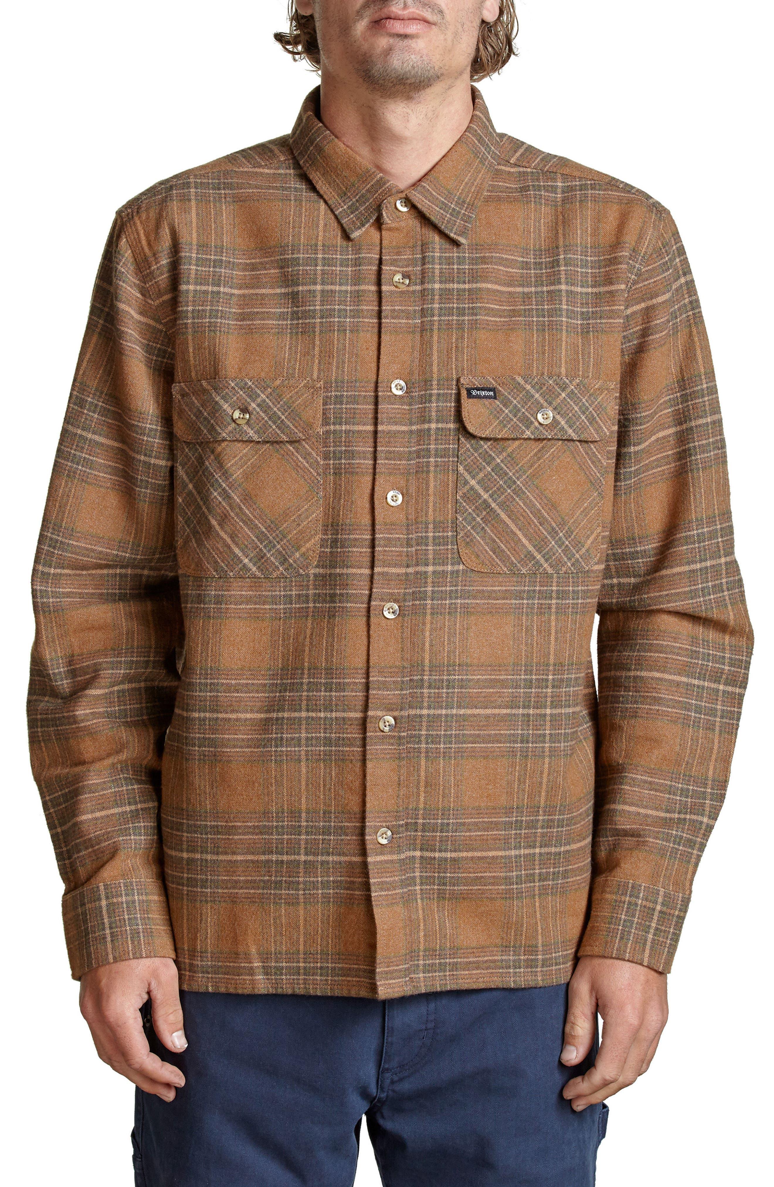 BRIXTON Archie Plaid Flannel Shirt