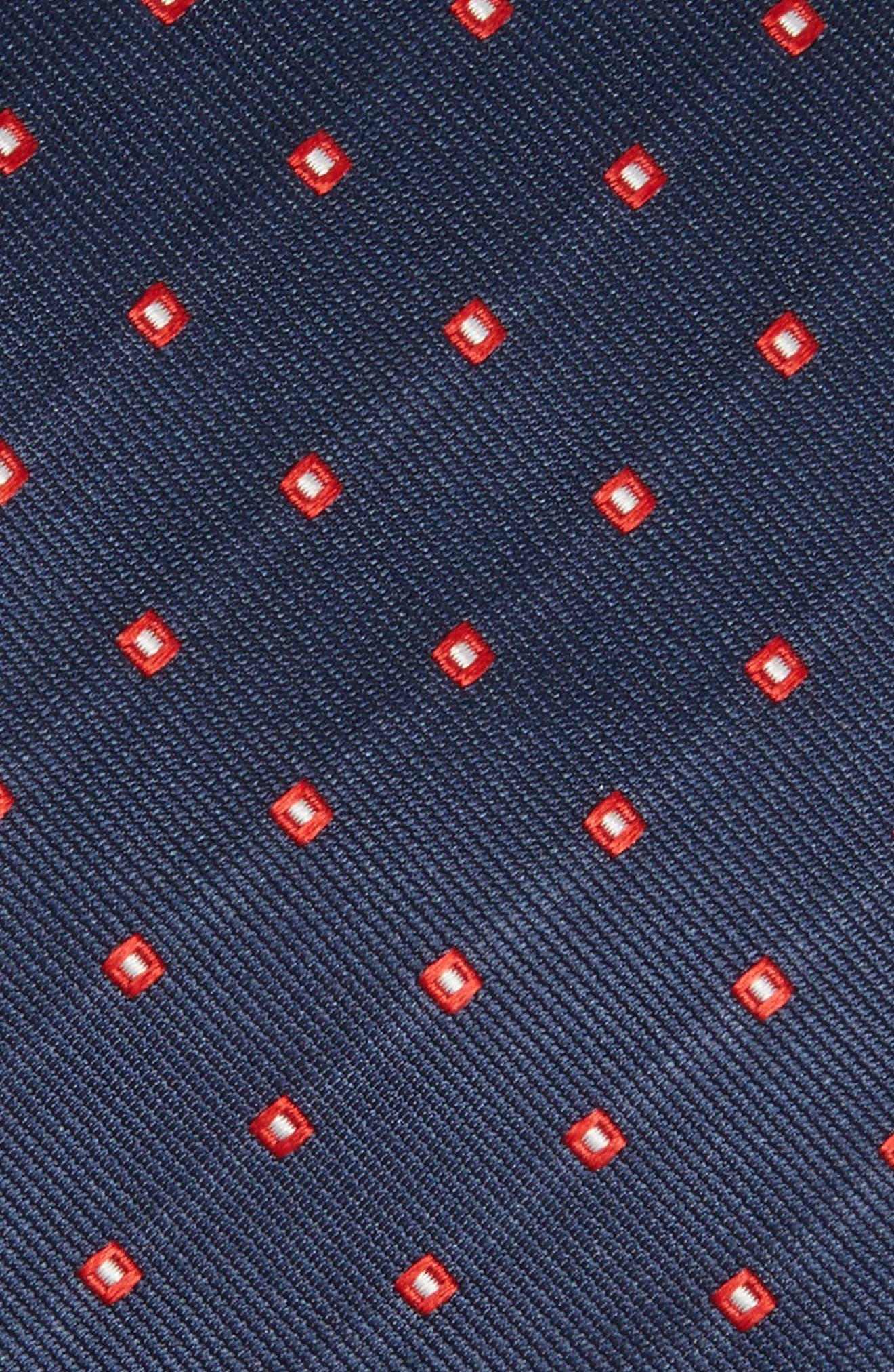 Medallion Silk Tie,                             Alternate thumbnail 2, color,                             Navy/ Red