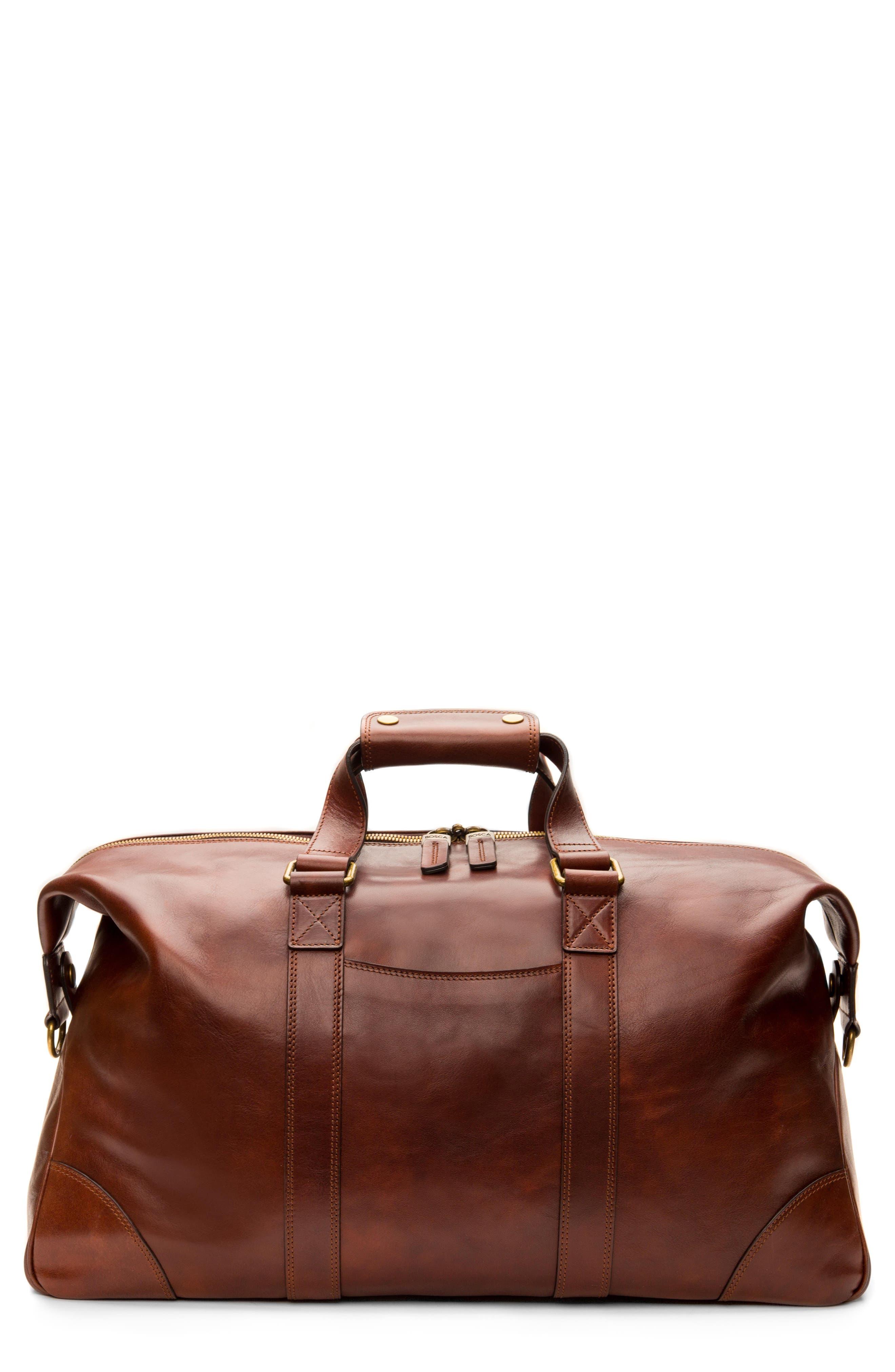Bosca Leather Duffel Bag