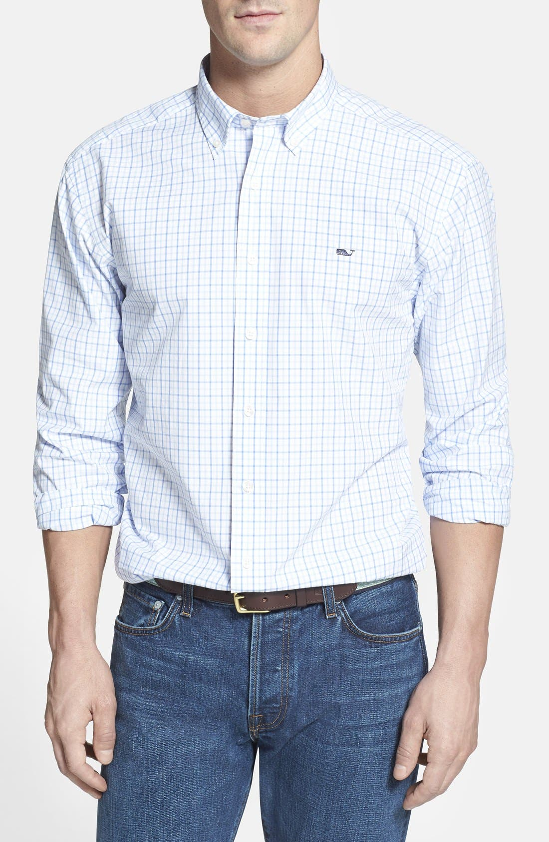 Vineyard Vines 'Whale' Classic Fit Tattersall Check Sport Shirt