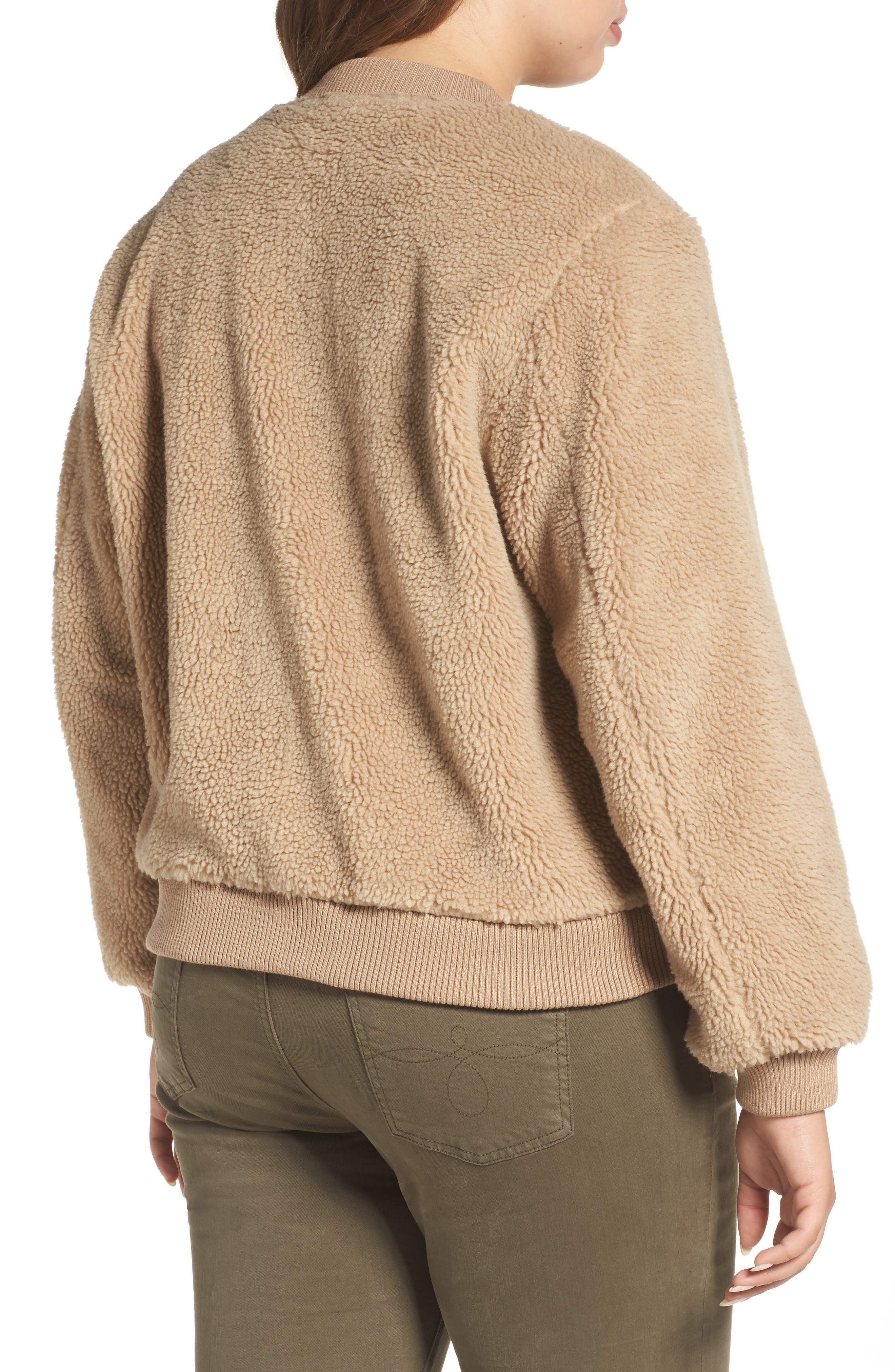 Alternate Image 2  - Levi's® Rib Knit Fleece Bomber Jacket