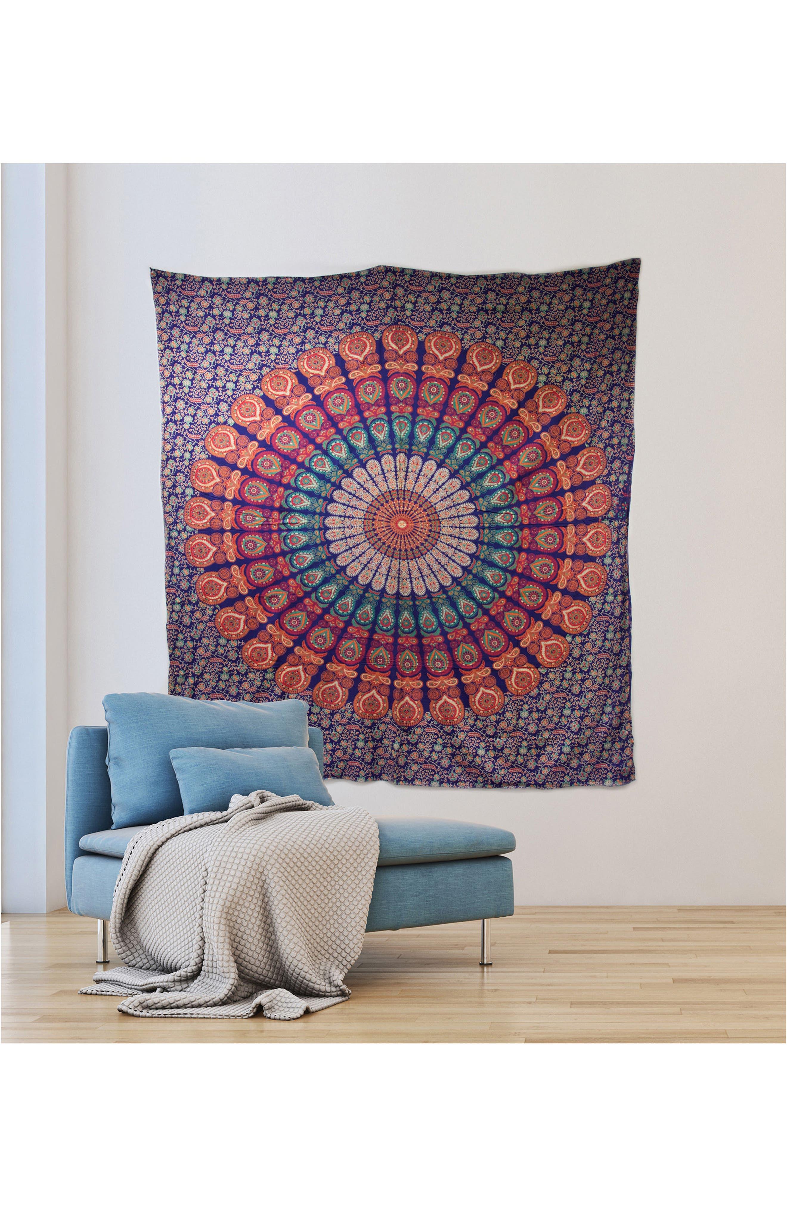 Raghav Wall Tapestry,                             Alternate thumbnail 2, color,                             Blue