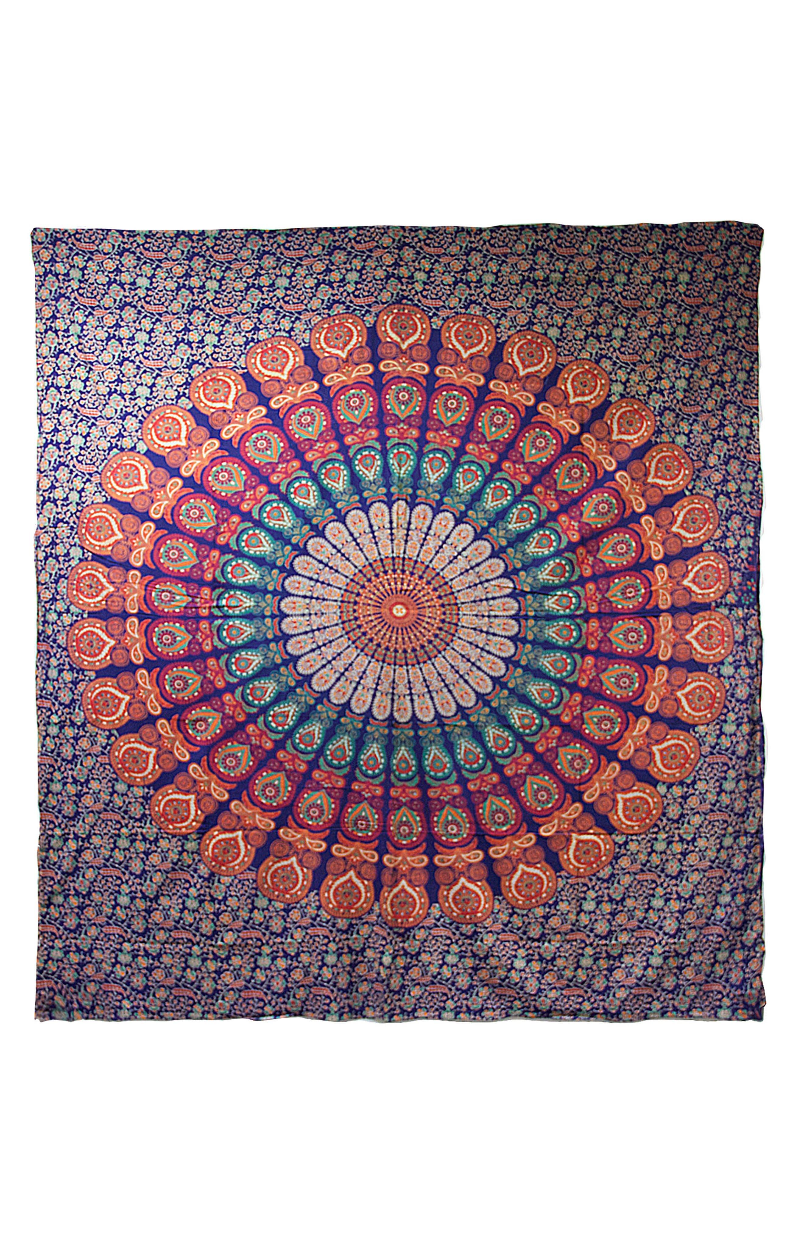 Raghav Wall Tapestry,                             Main thumbnail 1, color,                             Blue