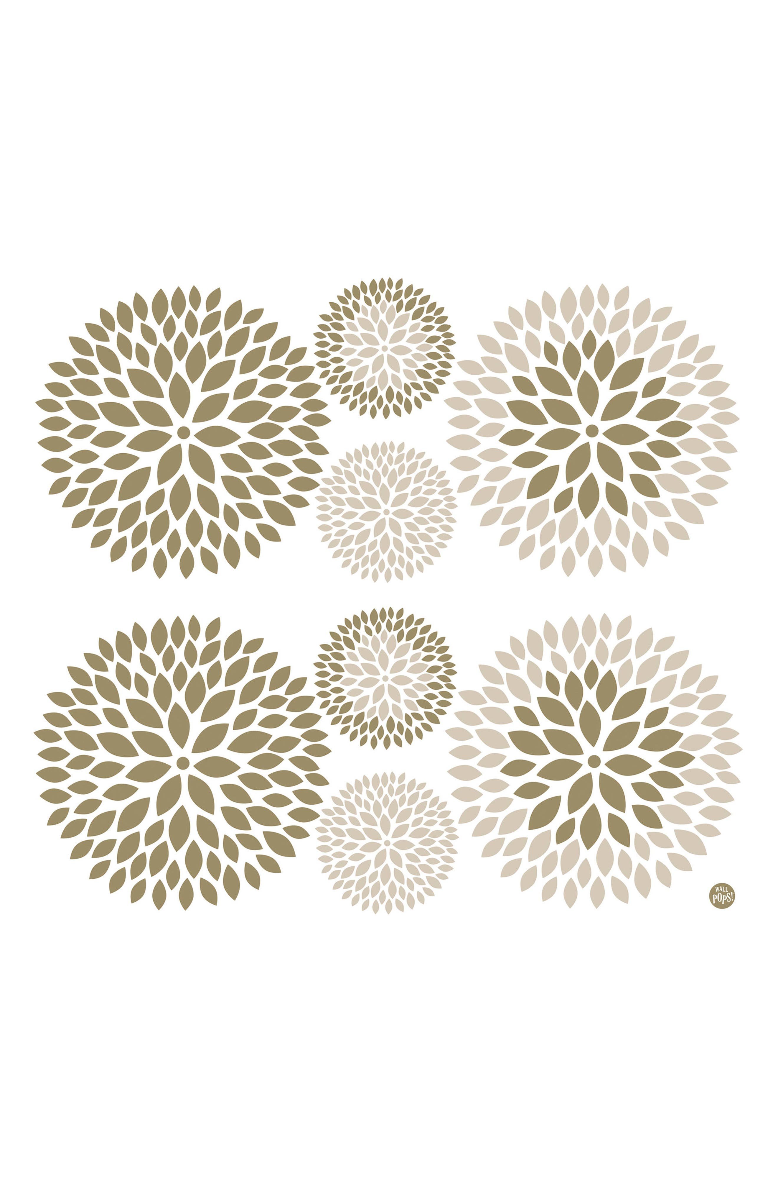 Wallpops Chrysanthemum 8-Piece Wall Art Decal Set