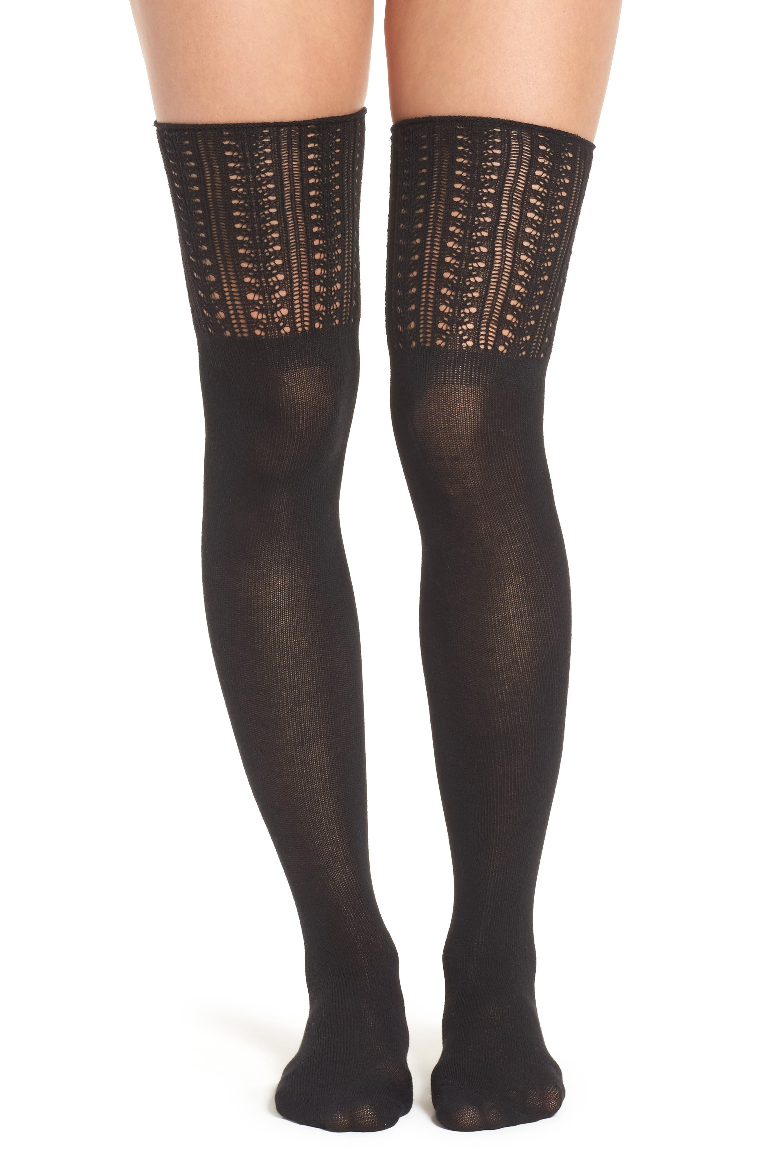 Hue Openwork Top Over the Knee Socks